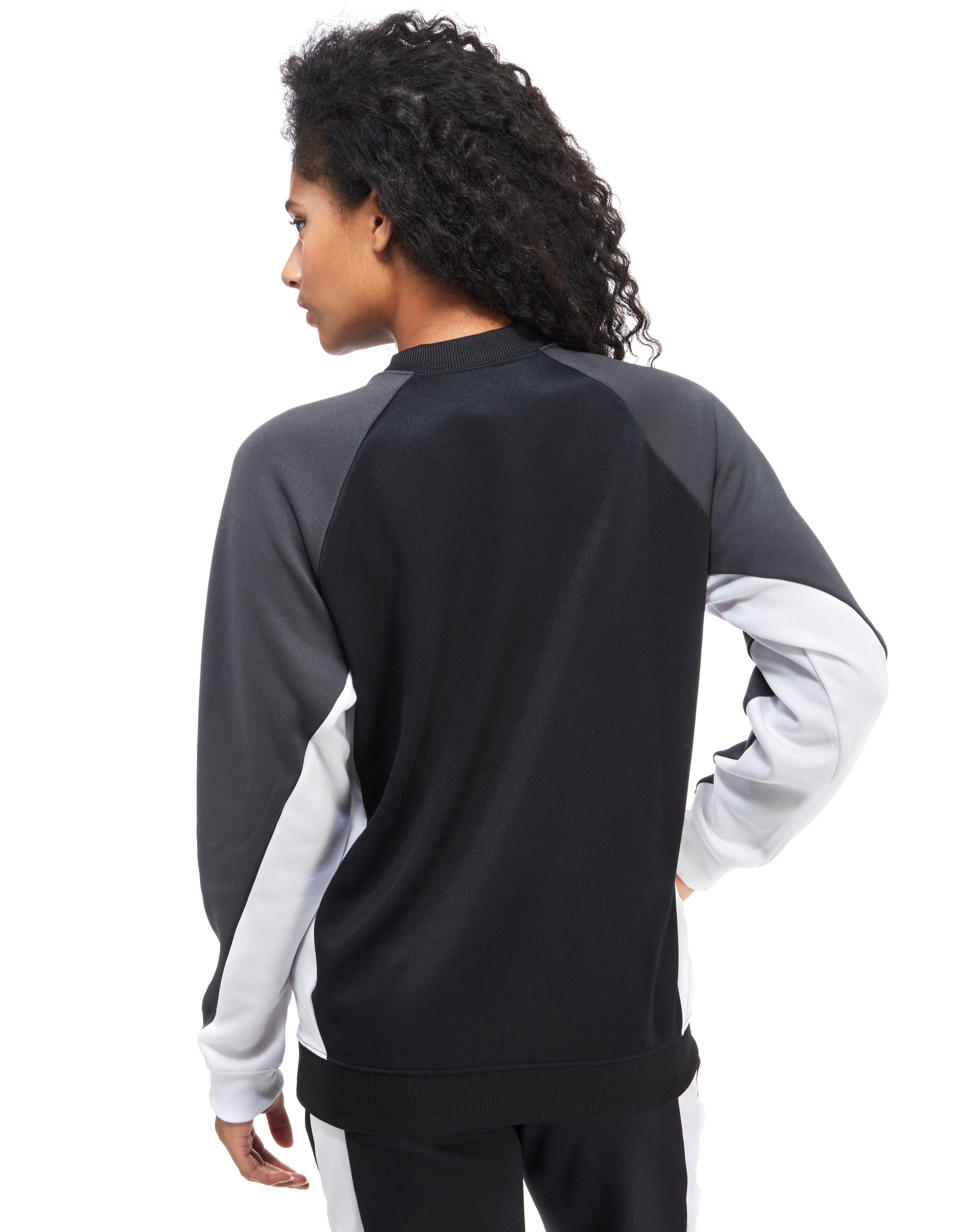 Crew Sweater In Black Lyst Block Colour Nike Poly xwB4U6Ifaq