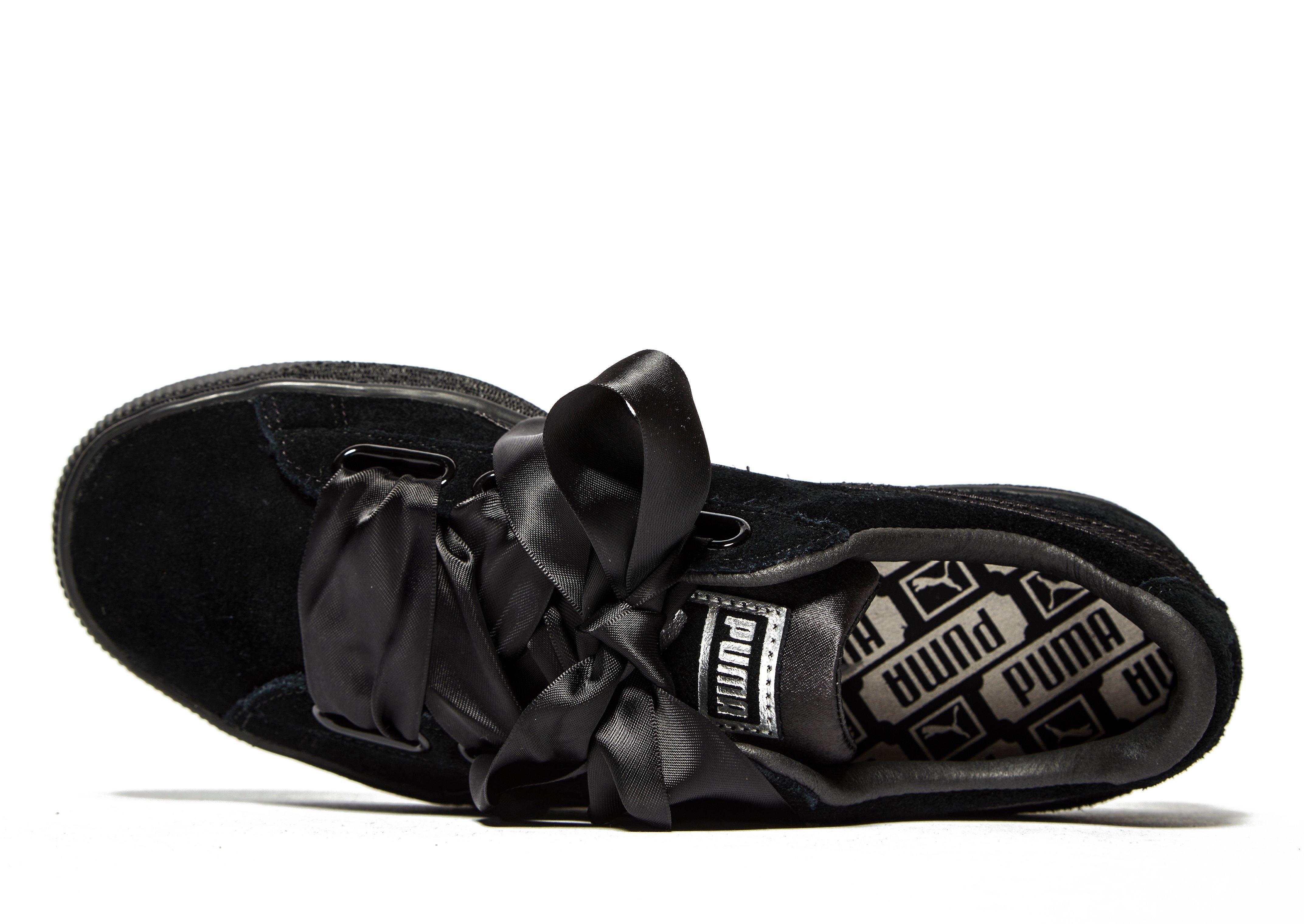 low priced d6673 bef2a Women's Black En Pointe Suede Heart