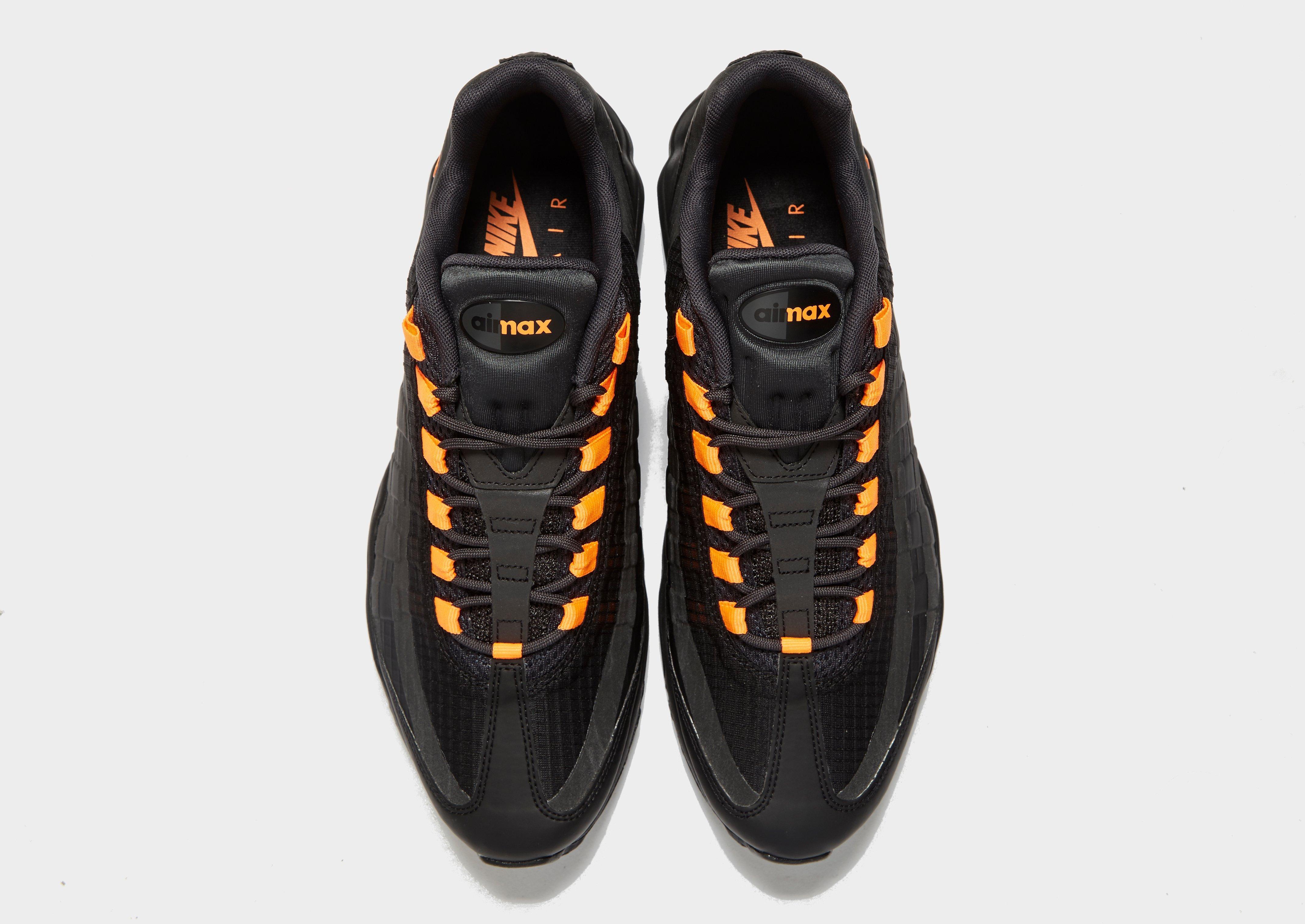 Nike Synthetic Air Max 95 Ultra Se in Black/Orange (Black) for Men ...