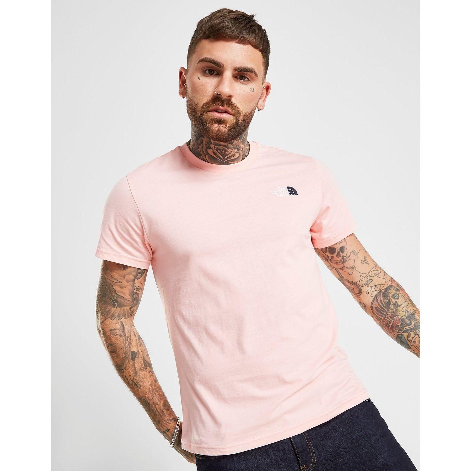86bc0140c The North Face Simple Dome 2 T-shirt in Pink for Men - Lyst