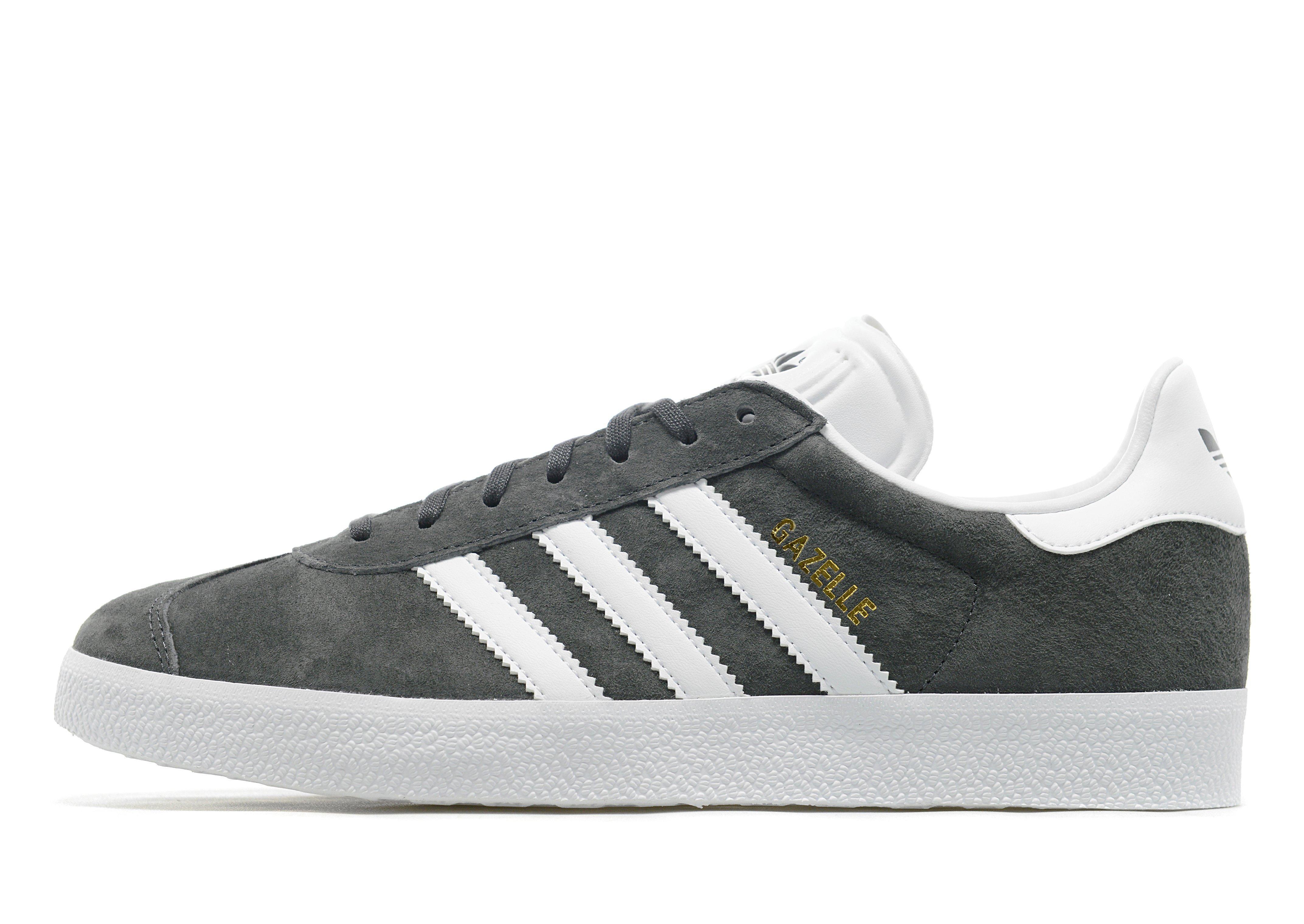 Adidas originali gazzella formatori in grigio per gli uomini lyst