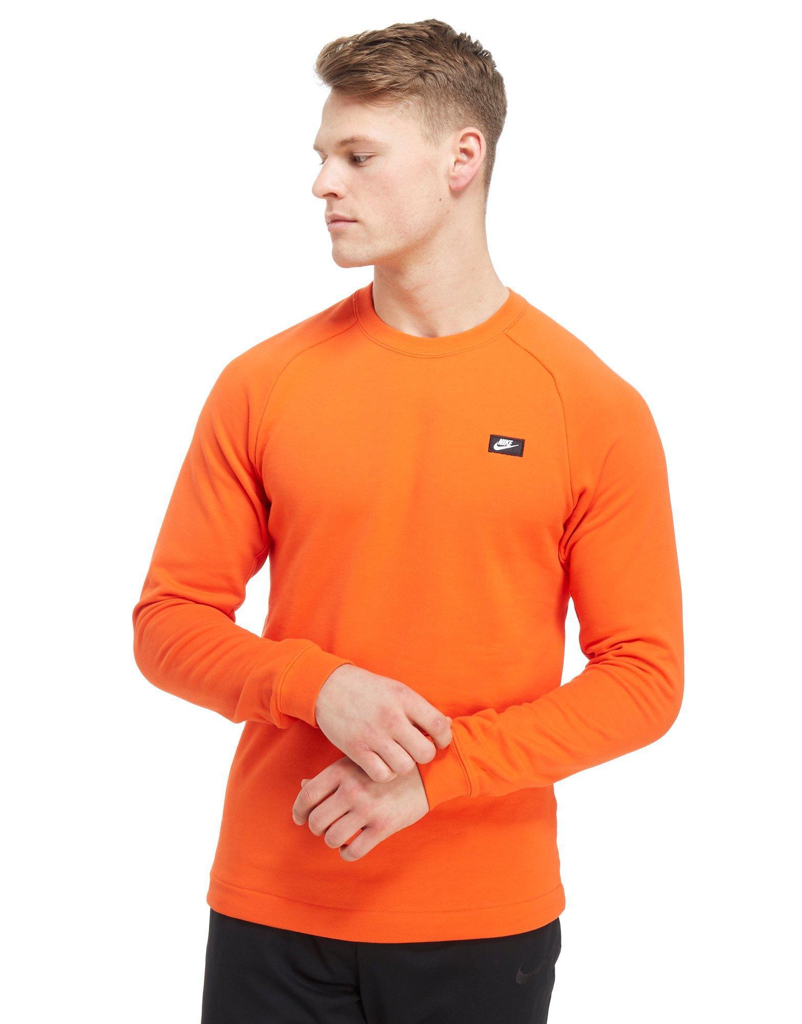 2c212124 Nike Modern Crew Sweatshirt in Orange for Men - Lyst