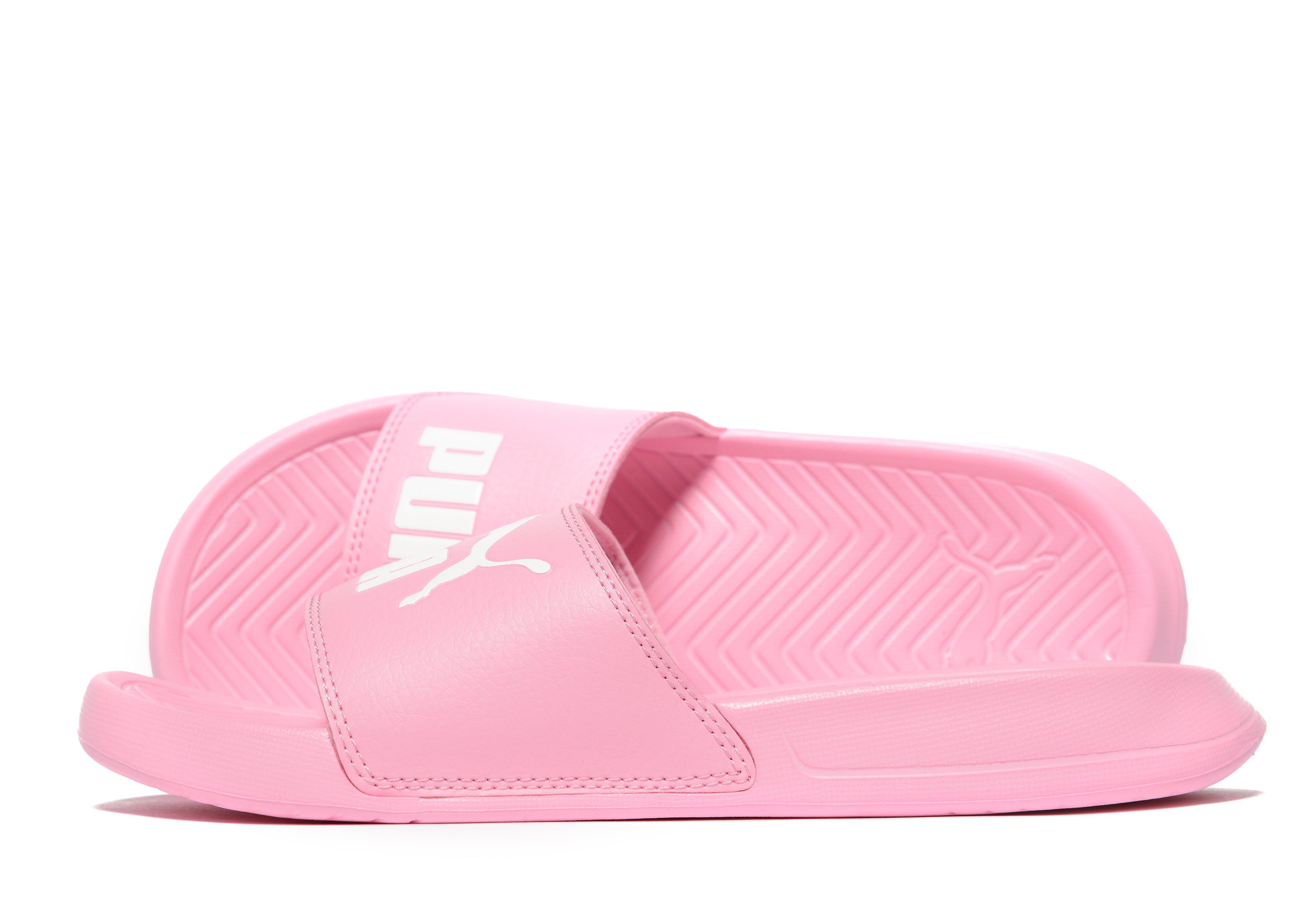 78dcec963a76 PUMA Popcat Slides in Pink - Lyst