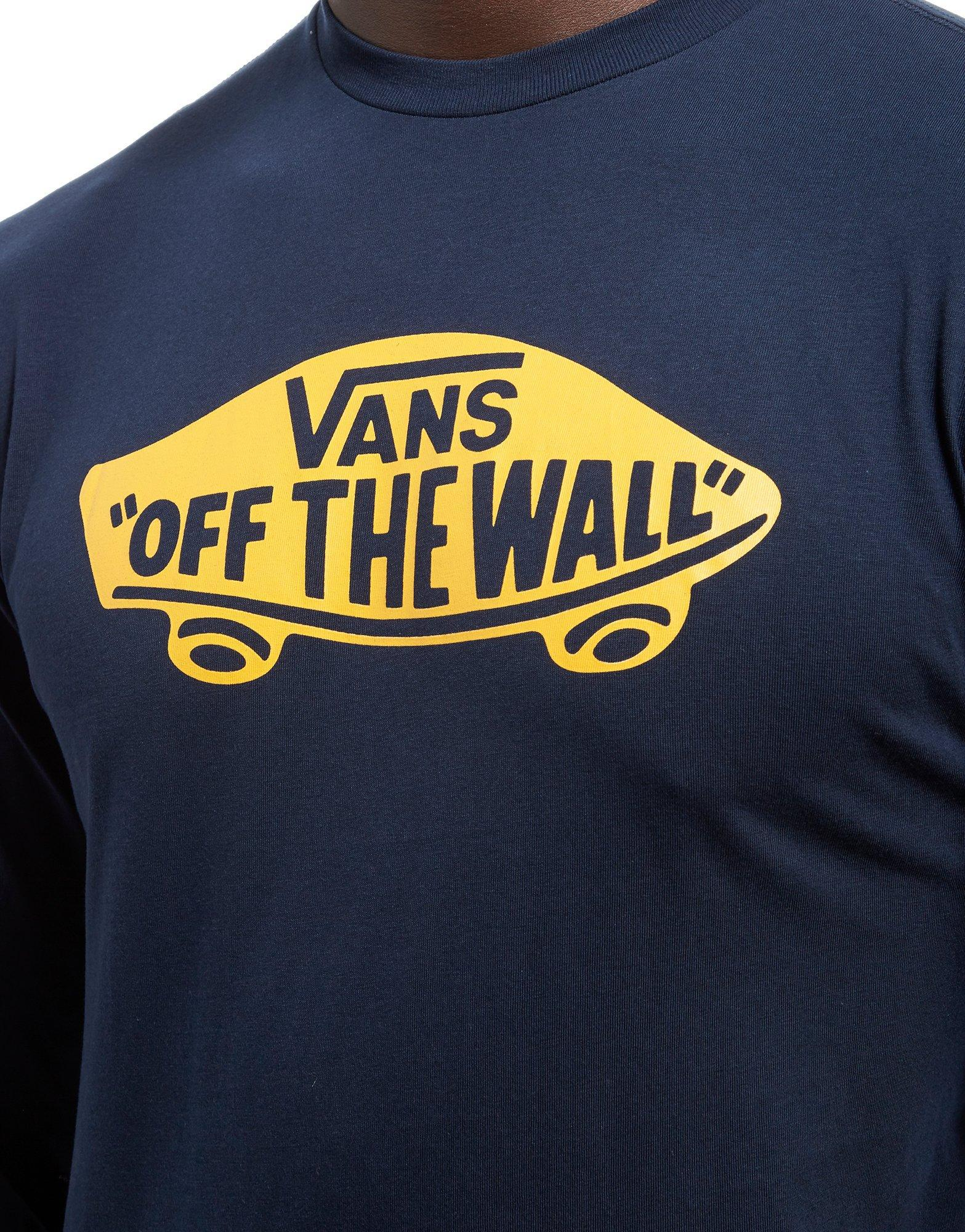 4c8a1bb96612 Lyst - Vans Off The Wall Long Sleeve T-shirt in Blue for Men