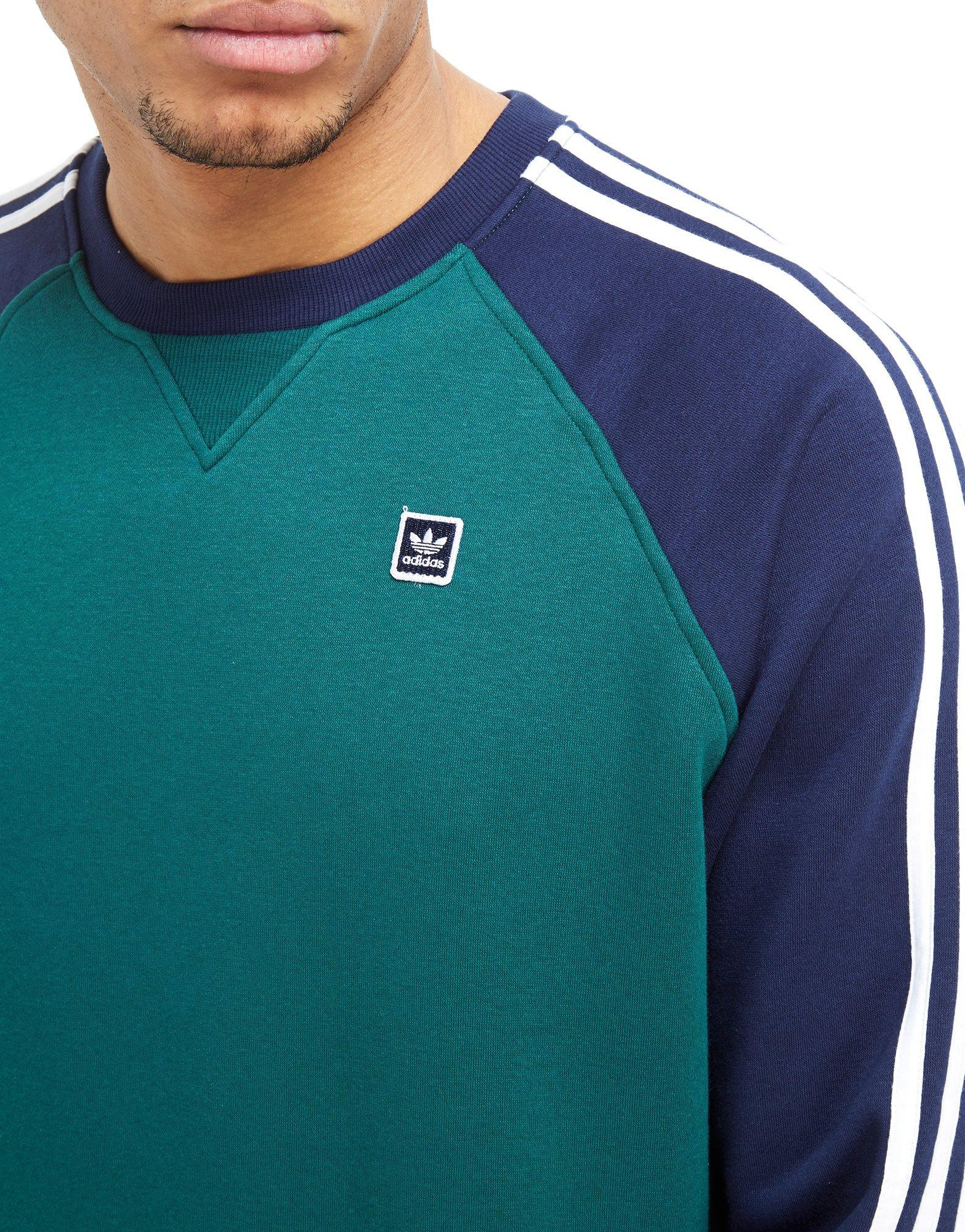 Raglan Originals Crew Sweatshirt Men For Adidas Skateboarding Blue 35Sc4RjAqL