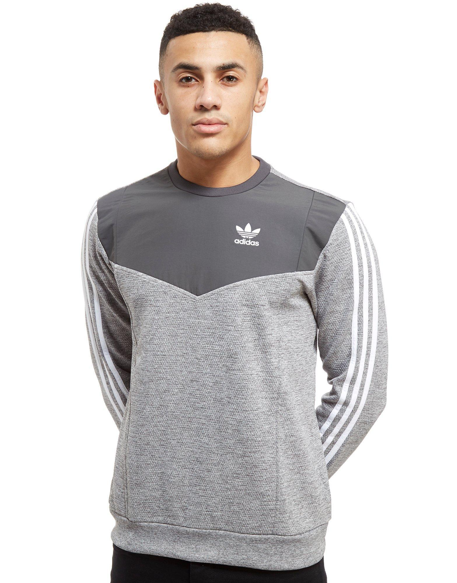 special for shoe outlet boutique good service adidas Originals Synthetic Nova Woven Crew Sweatshirt in ...