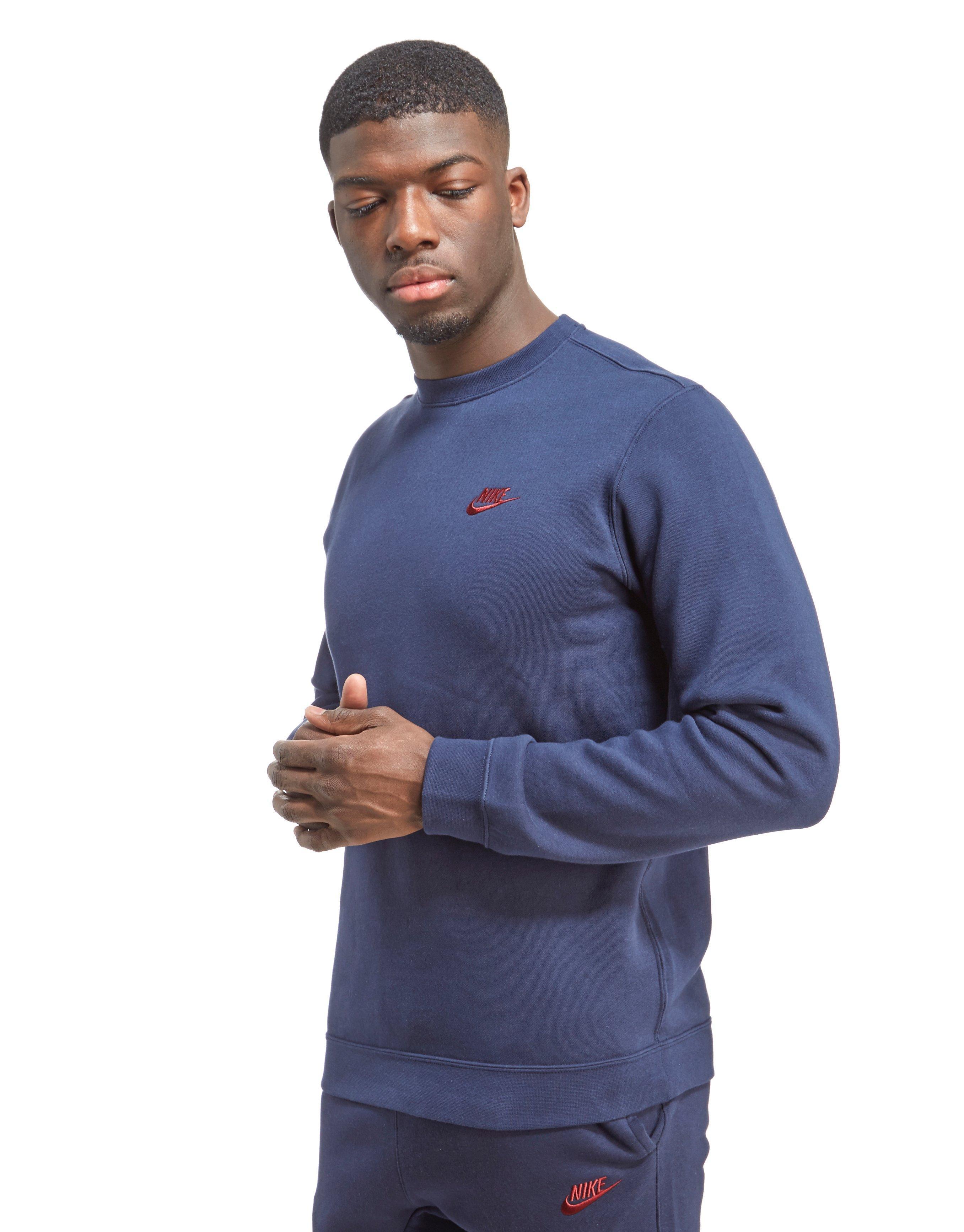domesticar Molester Sábana  Nike Cotton Foundation Crew Sweatshirt in Blue for Men - Lyst