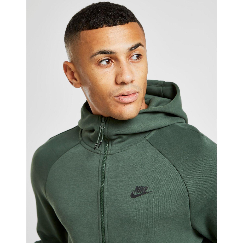 no relacionado restante Porque  Nike Tech Fleece Windrunner Hoodie in Green/Black (Green) for Men ...