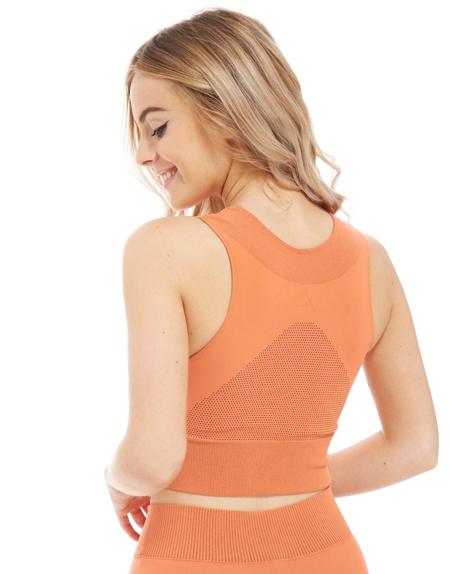 2831e843c1 Adidas Warpknit Crop Top In Orange