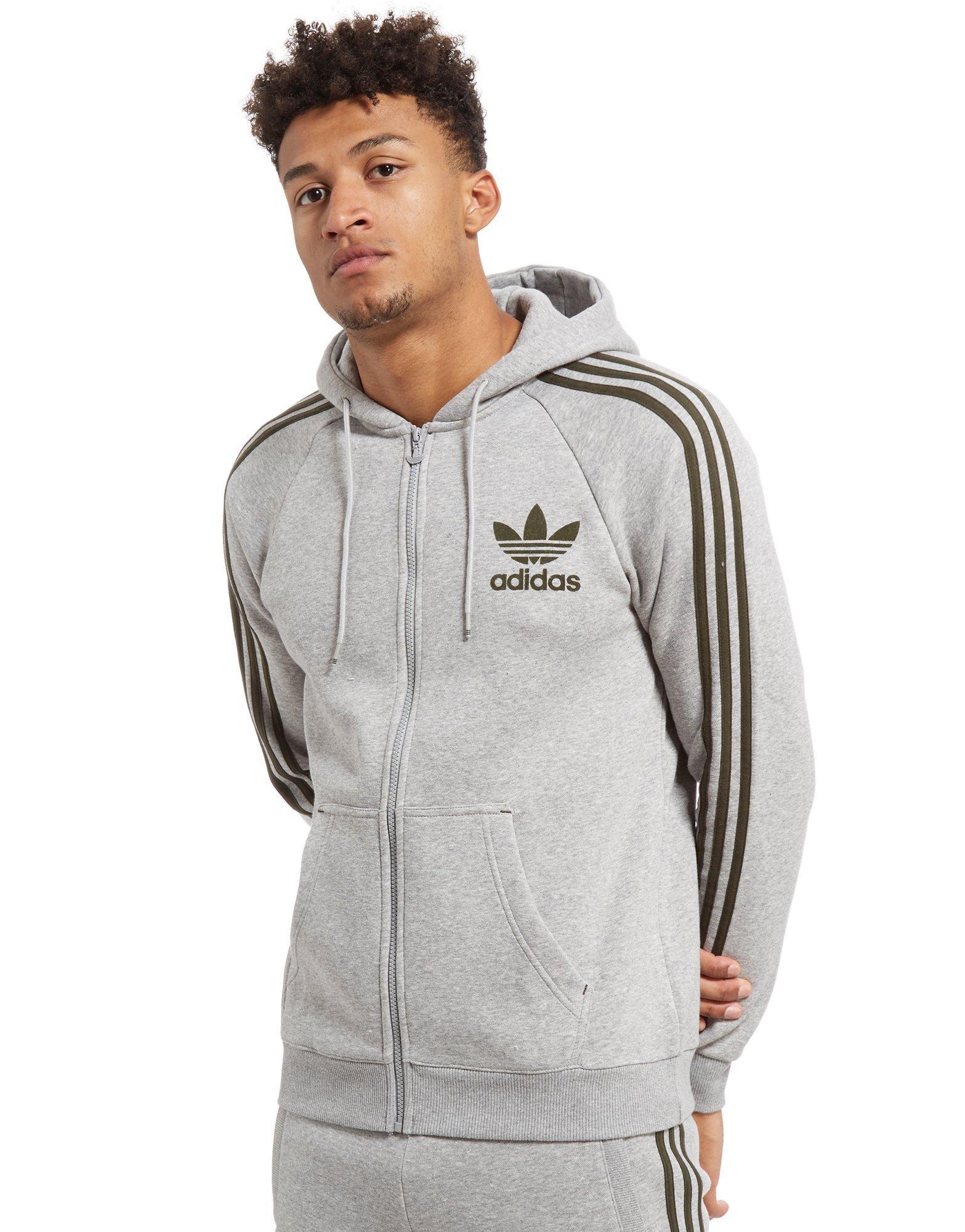 4634d2fc58ea adidas Originals California Full Zip Hoodie in Gray for Men - Lyst
