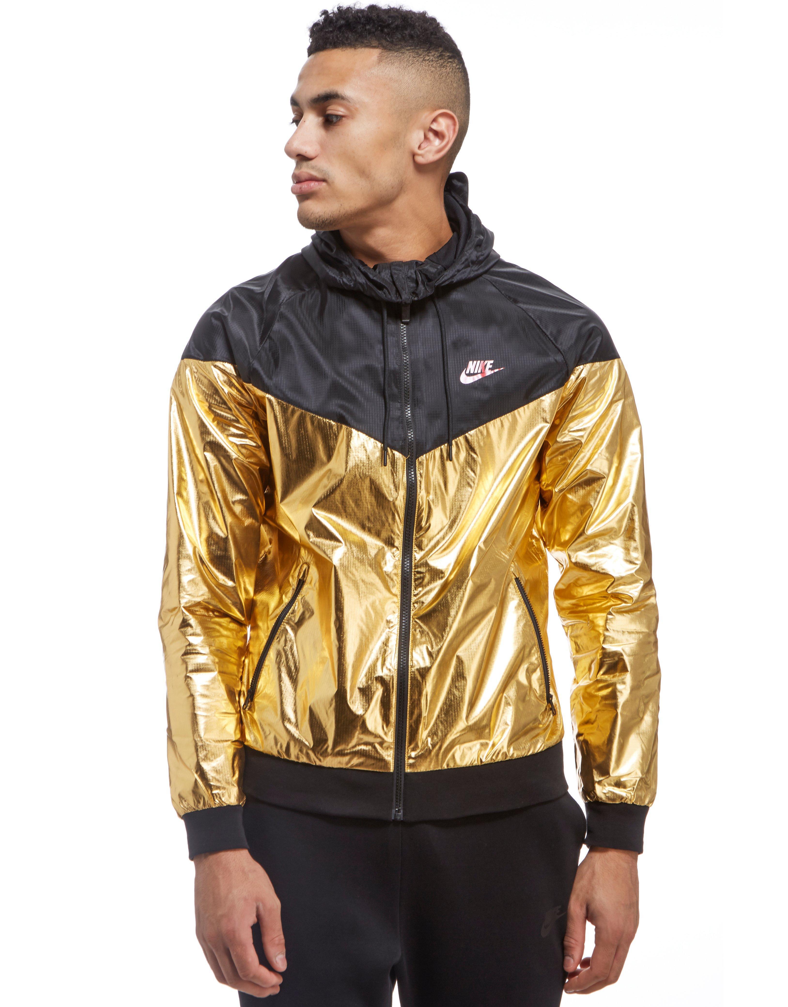 Lyst - Nike Windrunner Foil Jacket in Metallic for Men 875e9caf9