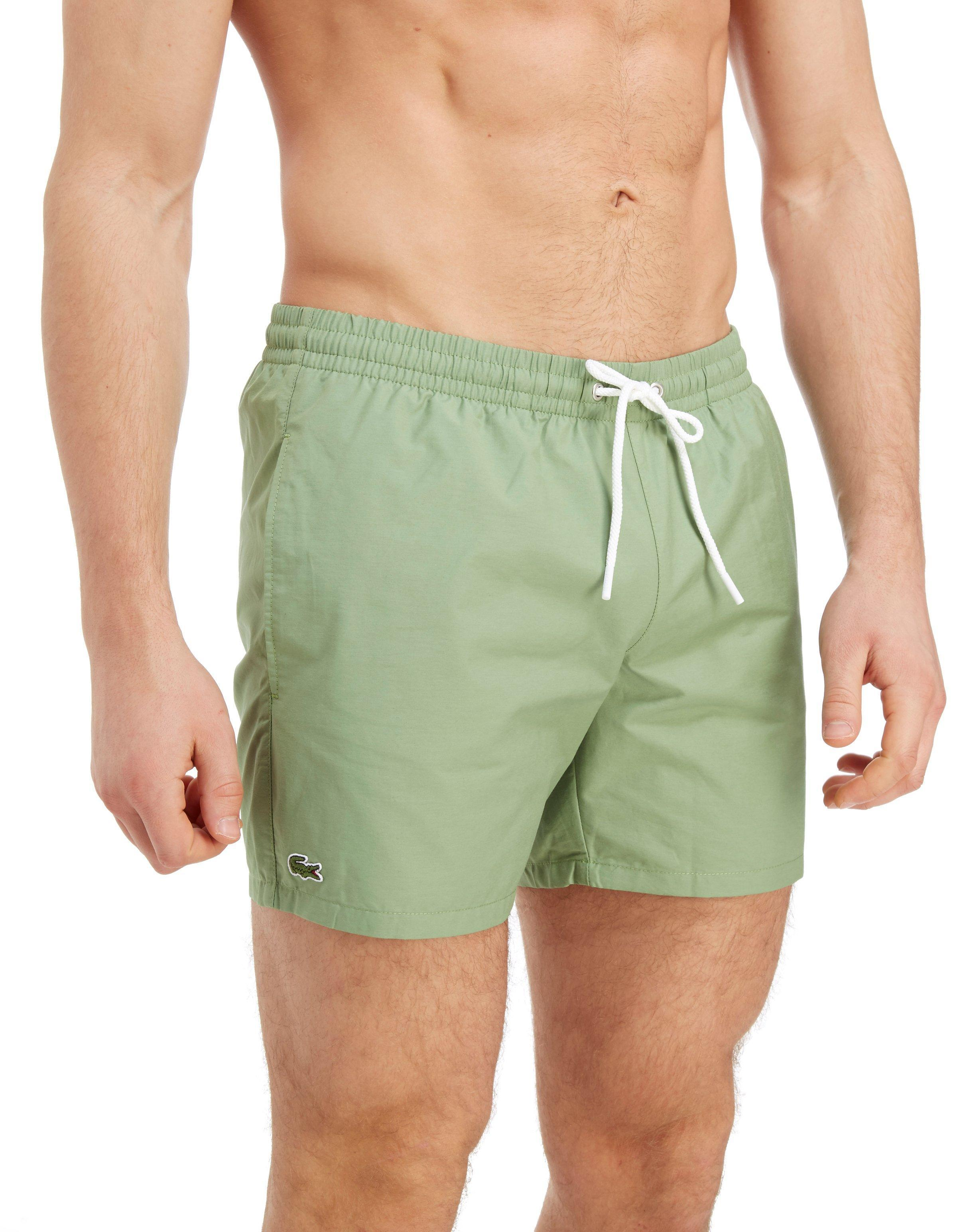 f8024b6373 Lacoste Core Swim Shorts in Green for Men - Lyst