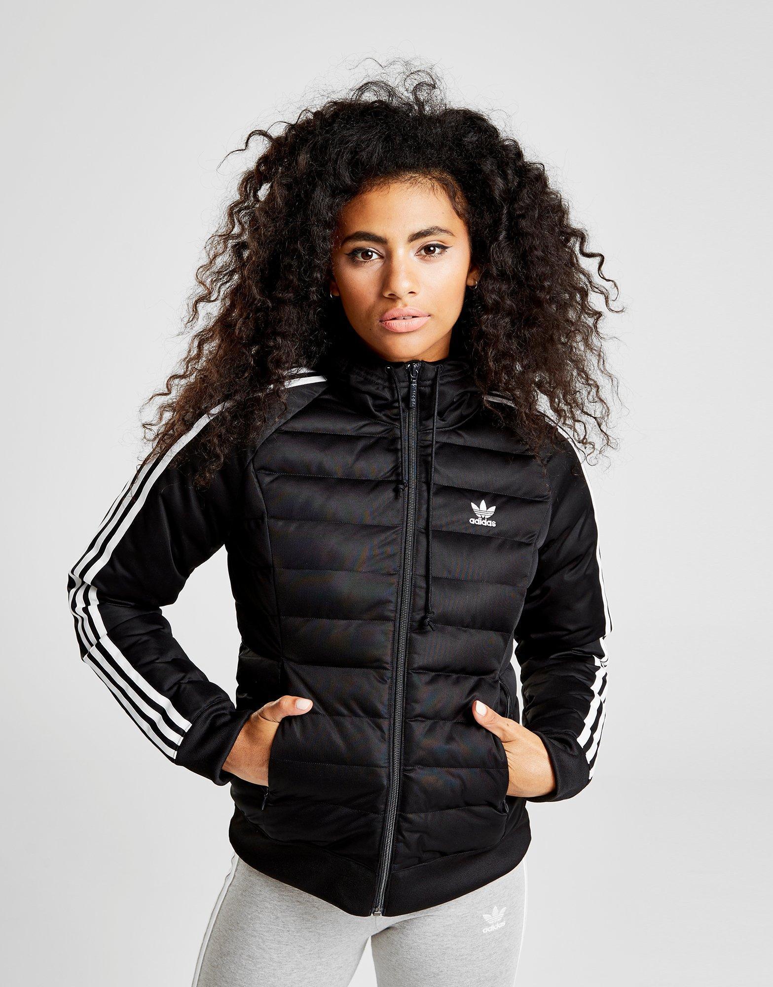 Adidas Stripes Jacket Originals Black 3 Padded jL34RqA5