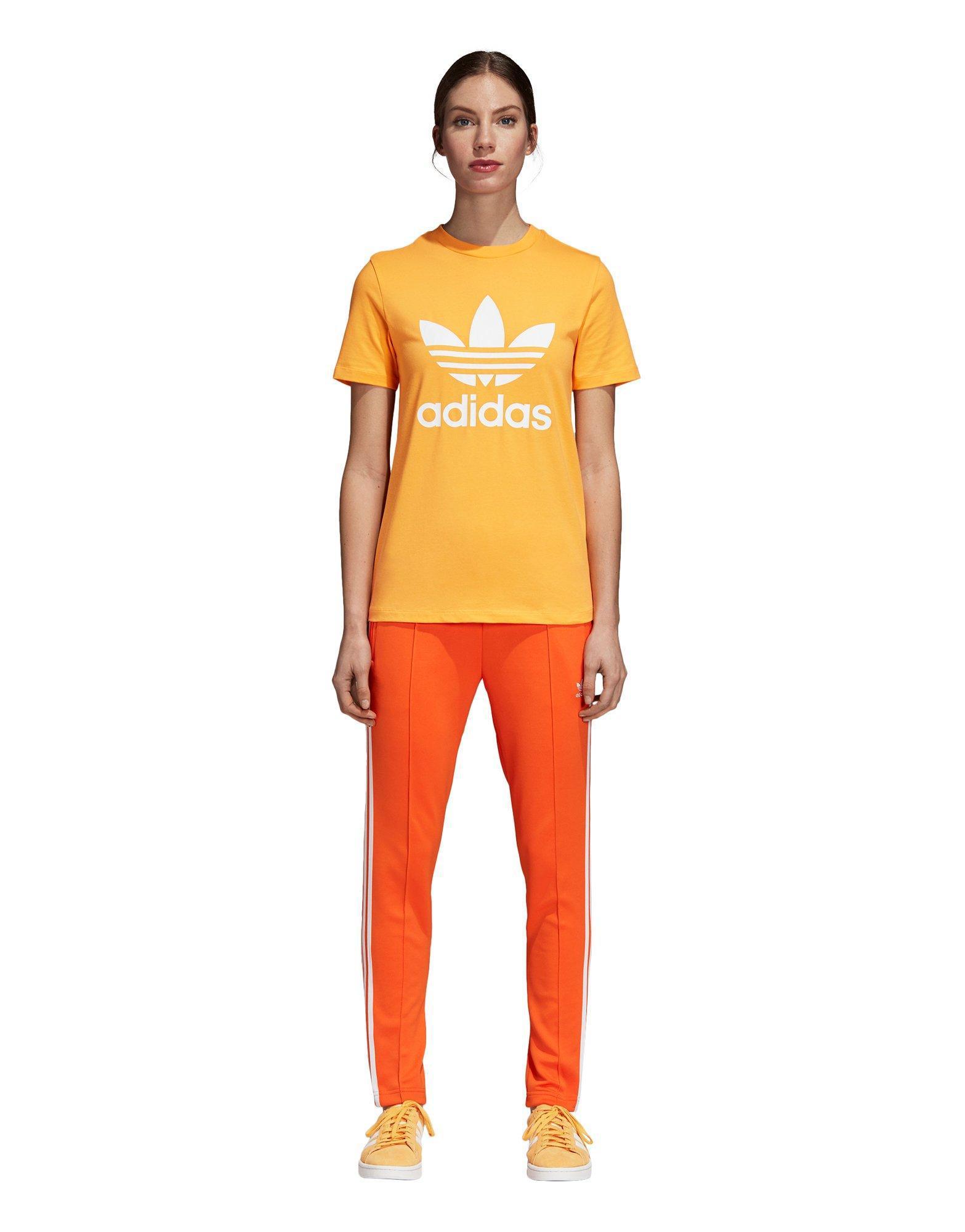 0691fe6dc5d Lyst - Adidas Trefoil Tee in Orange