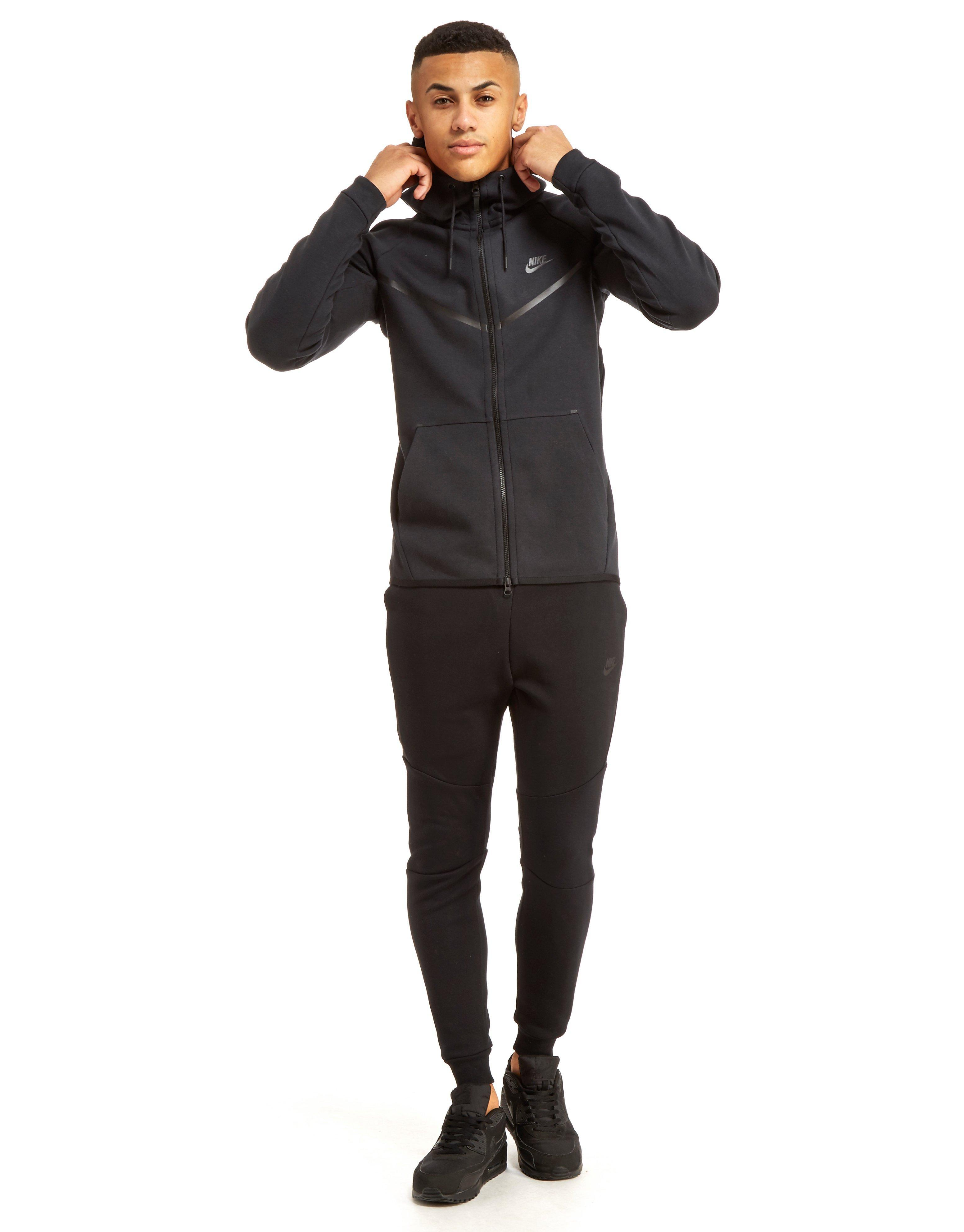 Lyst - Nike Tech Fleece Windrunner Hoody in Black for Men e19f60b4fc5f