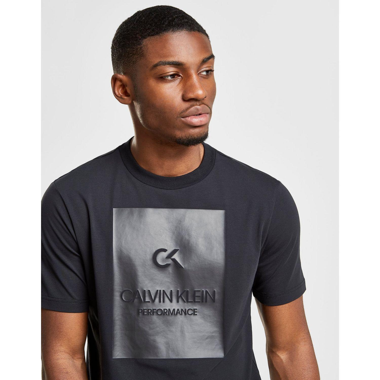 b14bf451b Calvin Klein - Black Performance Box T-shirt for Men - Lyst. View fullscreen