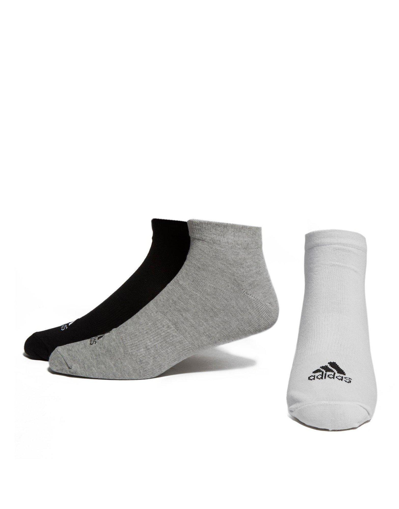 Adidas 3 Pack Invisible Socks  - Accessories Socks