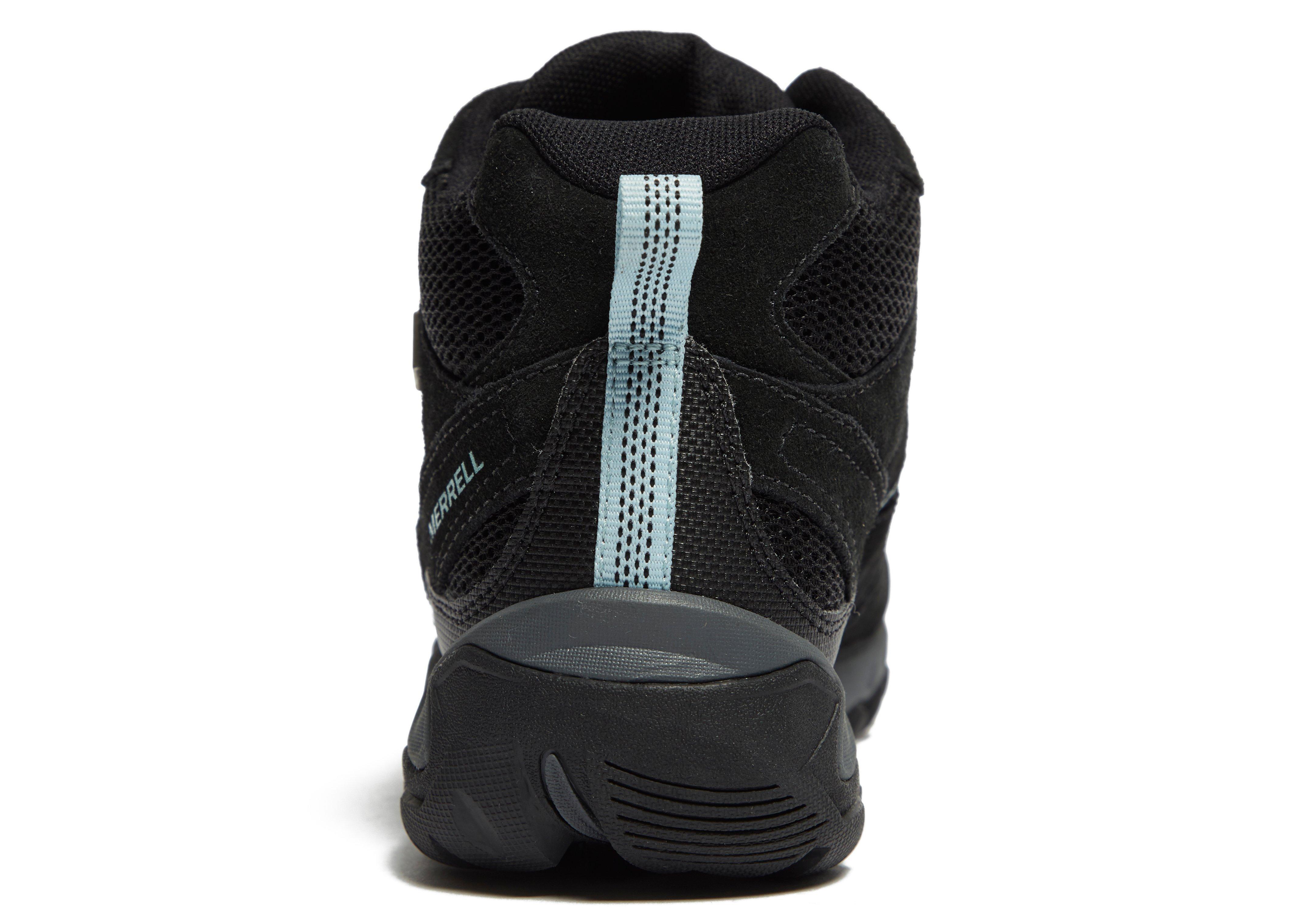 Merrell White Pine Mid Vent Walking Boots In Black For Men