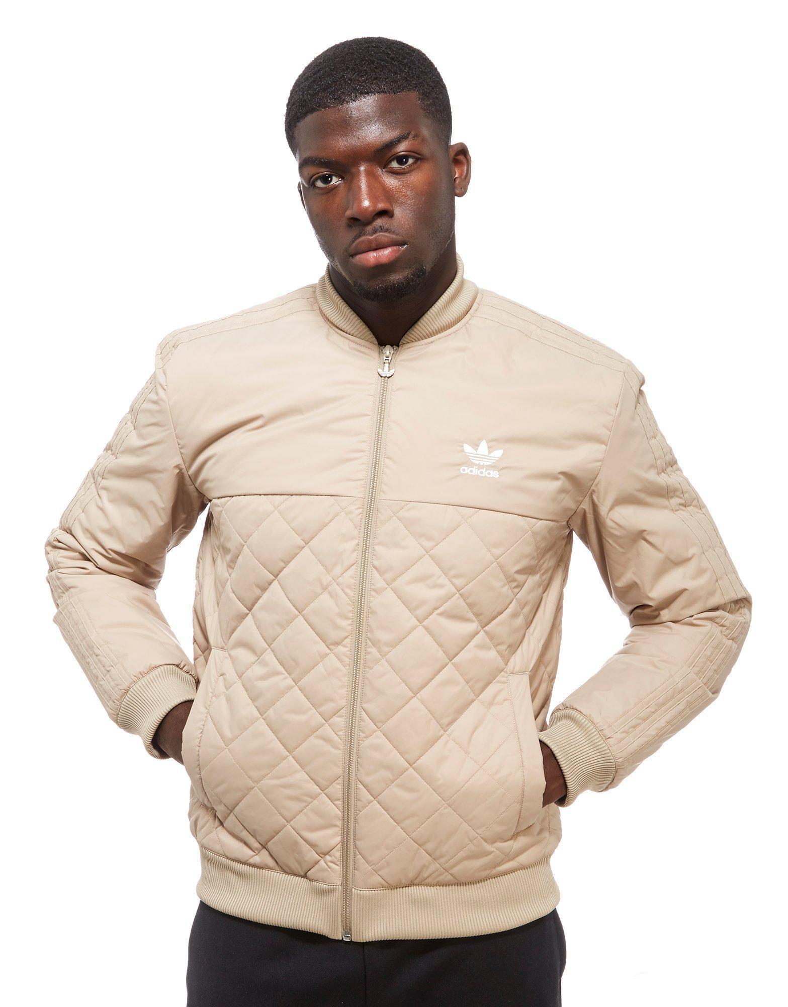 f3df7a6ef Adidas Originals Brown Trefoil Quilted Bomber Jacket for men