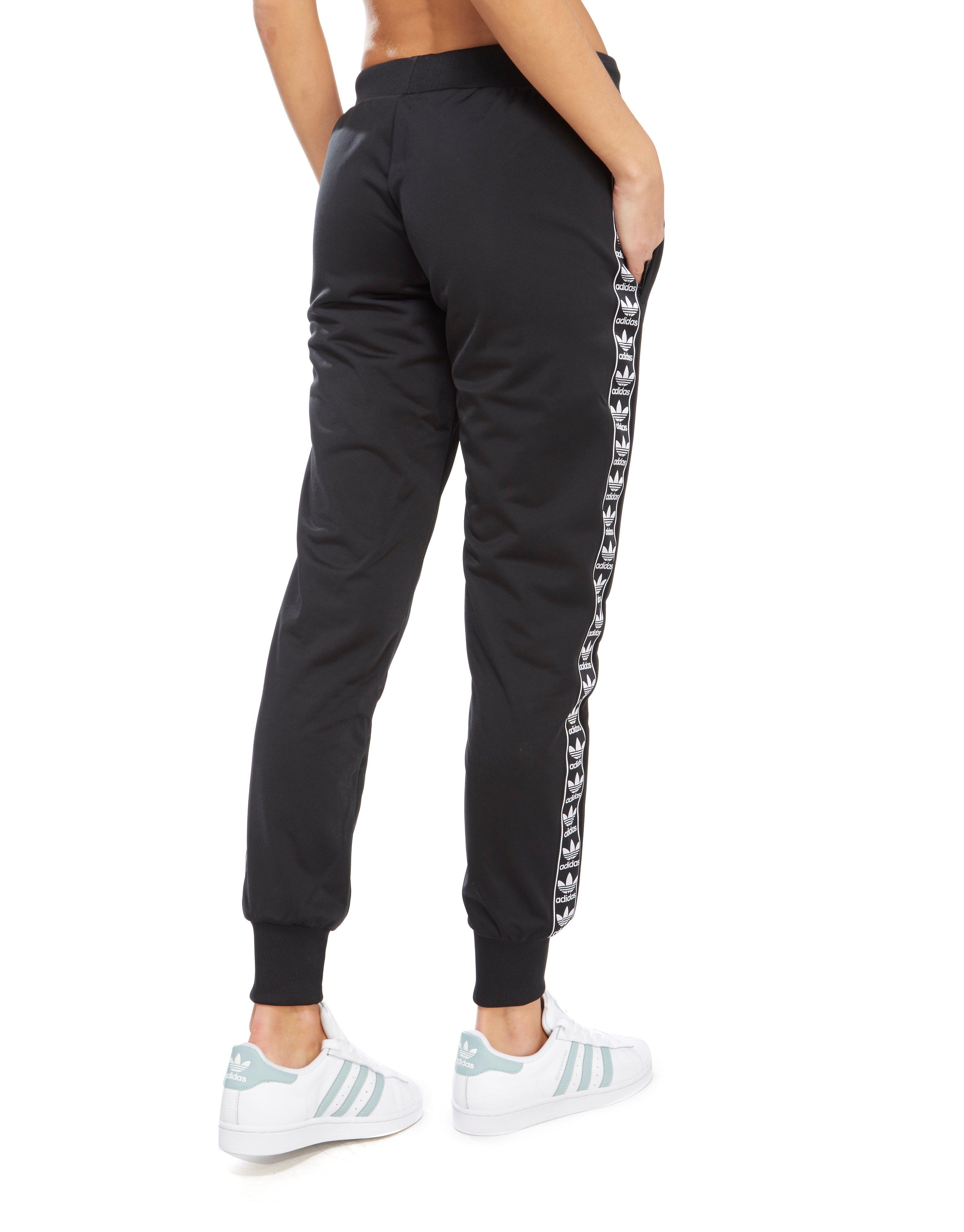 2bf4a09f16d5 Lyst - adidas Originals Firebird Tape Track Pants in Black