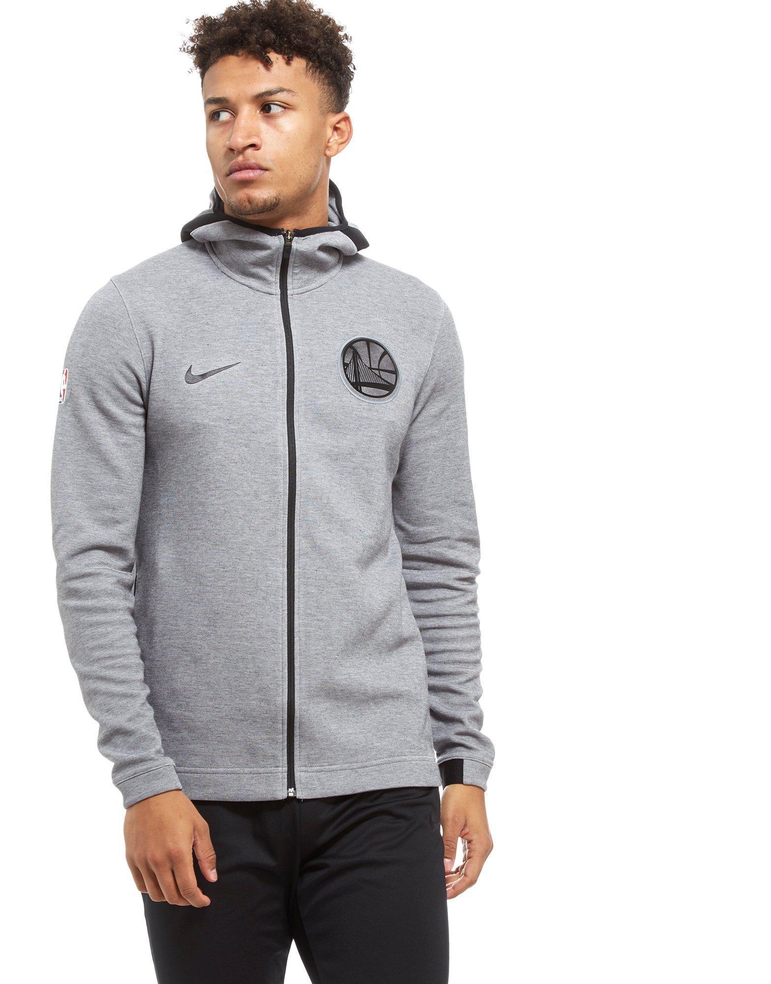 ba3173c04 Nike Nba Golden State Warriors Therma Flex Hoodie in Gray for Men - Lyst