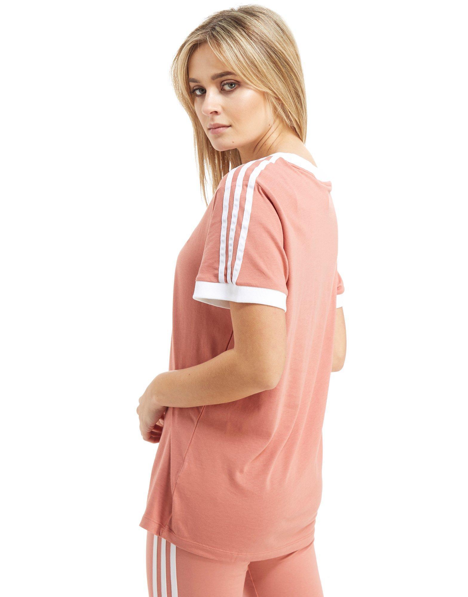 cute cheap factory outlets best sell adidas Originals California T Shirt In Pink BQ5371   Pink