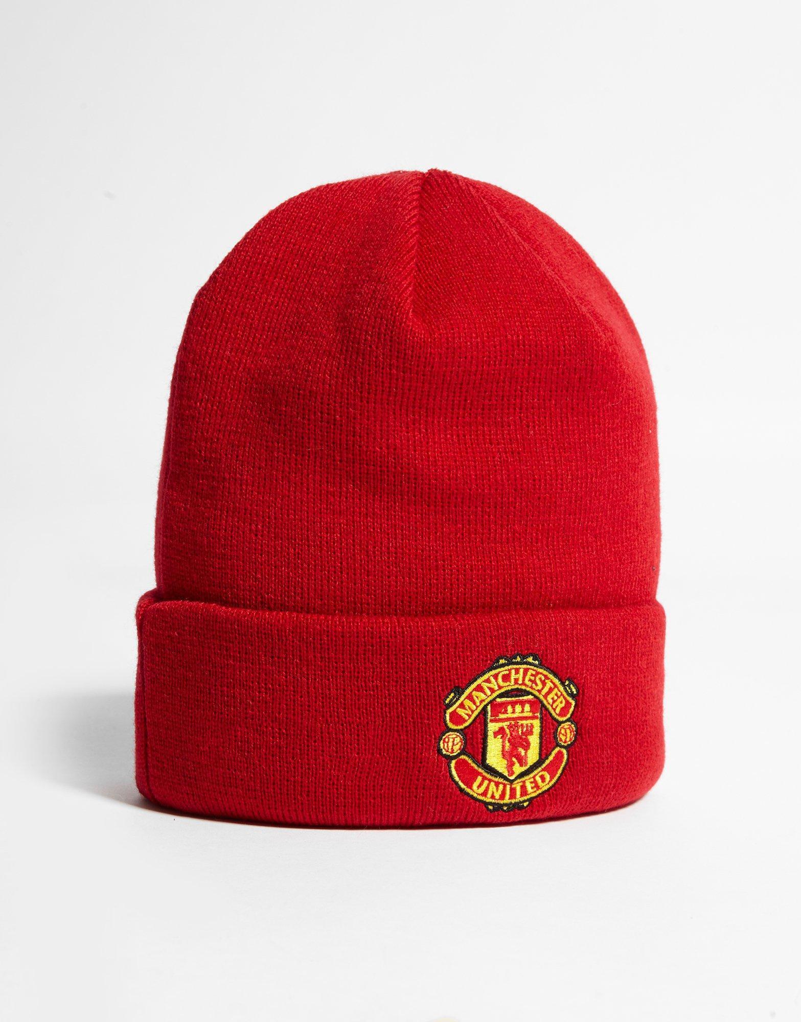 Ktz Manchester United Fc Basic Cuff Beanie Hat in Red - Lyst 6214a1339dd