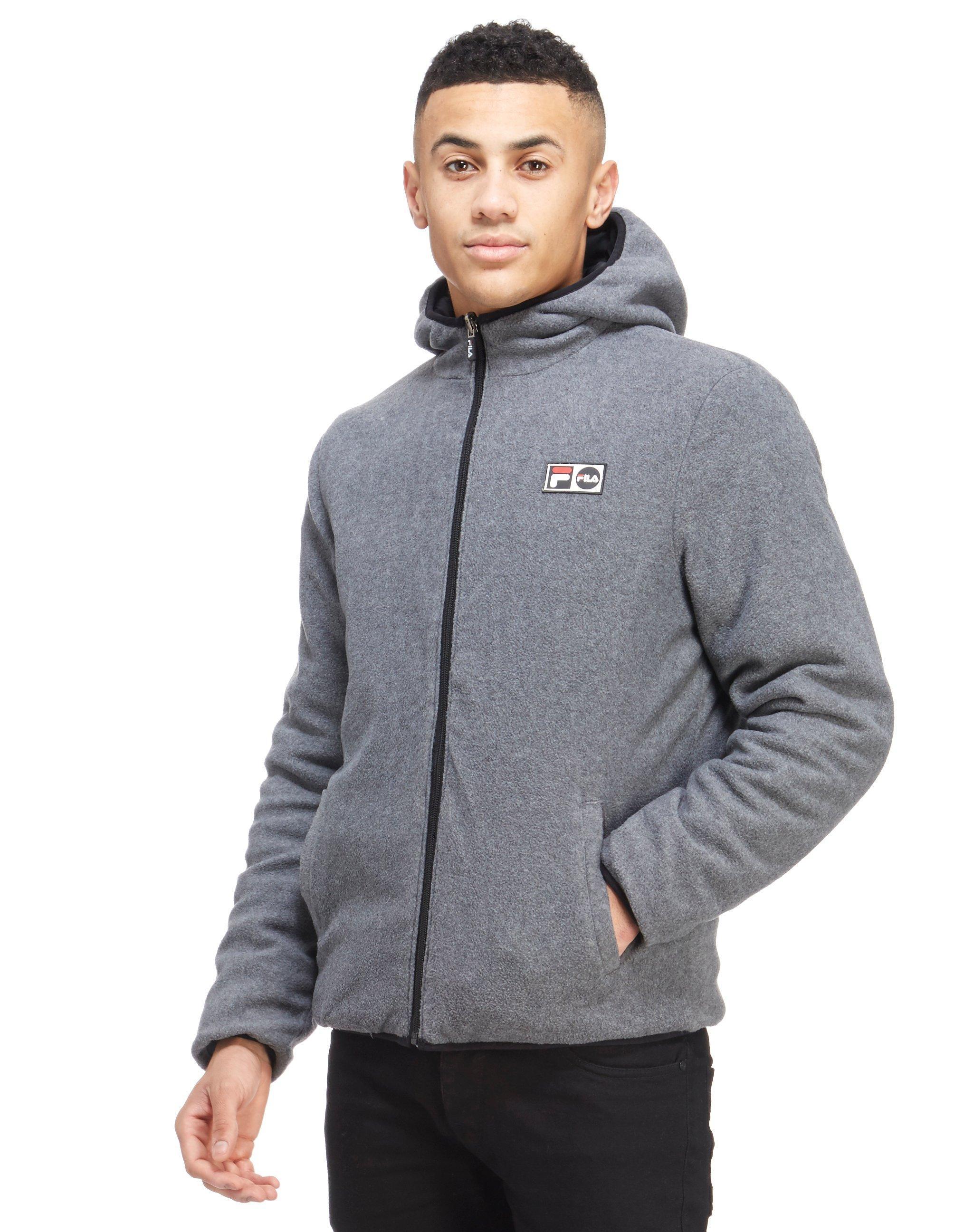Fila Fleece Alpino Reversible Jacket in Black for Men