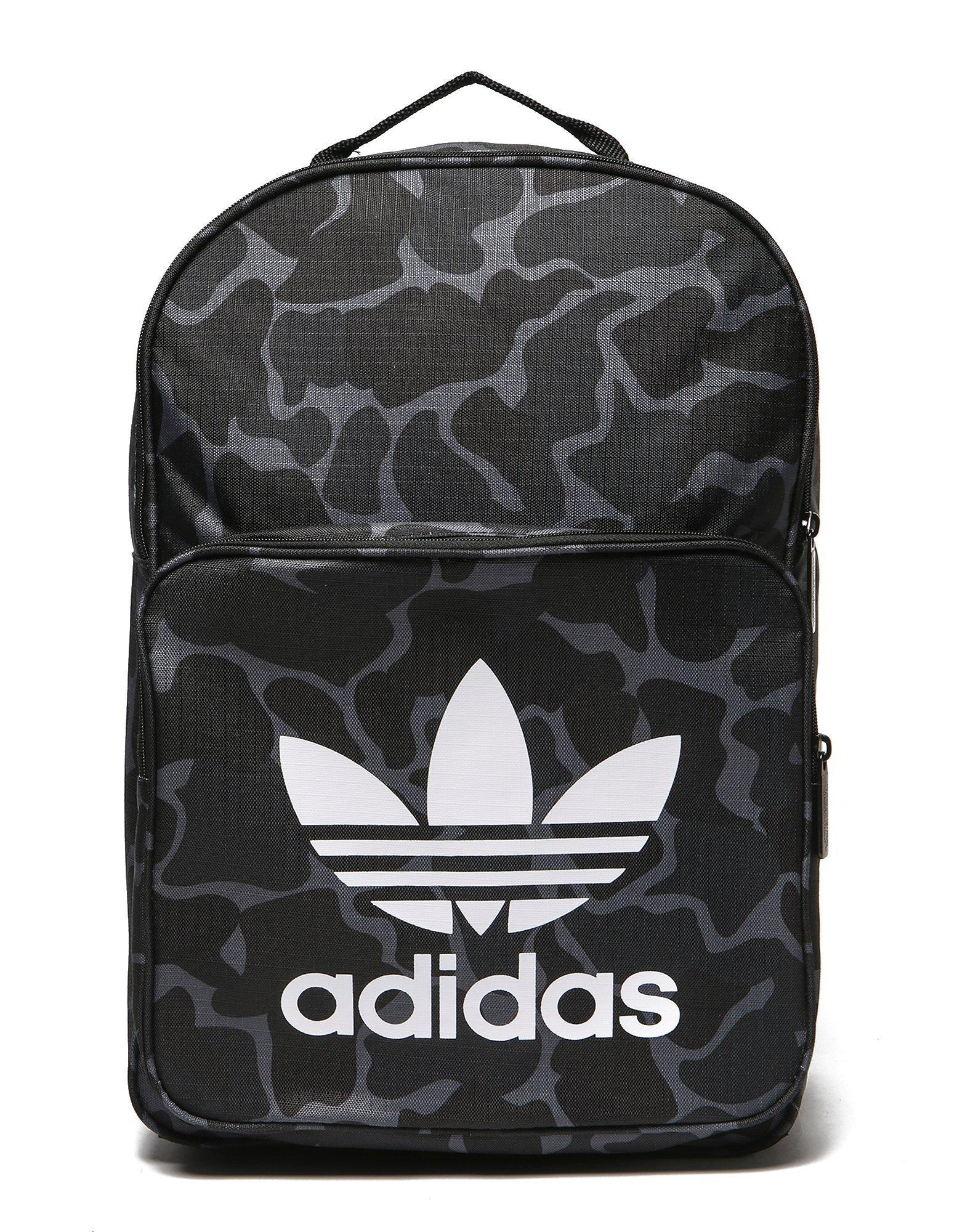Lyst - adidas Originals Classic Camo Backpack in Black for Men e0757215ee6b0