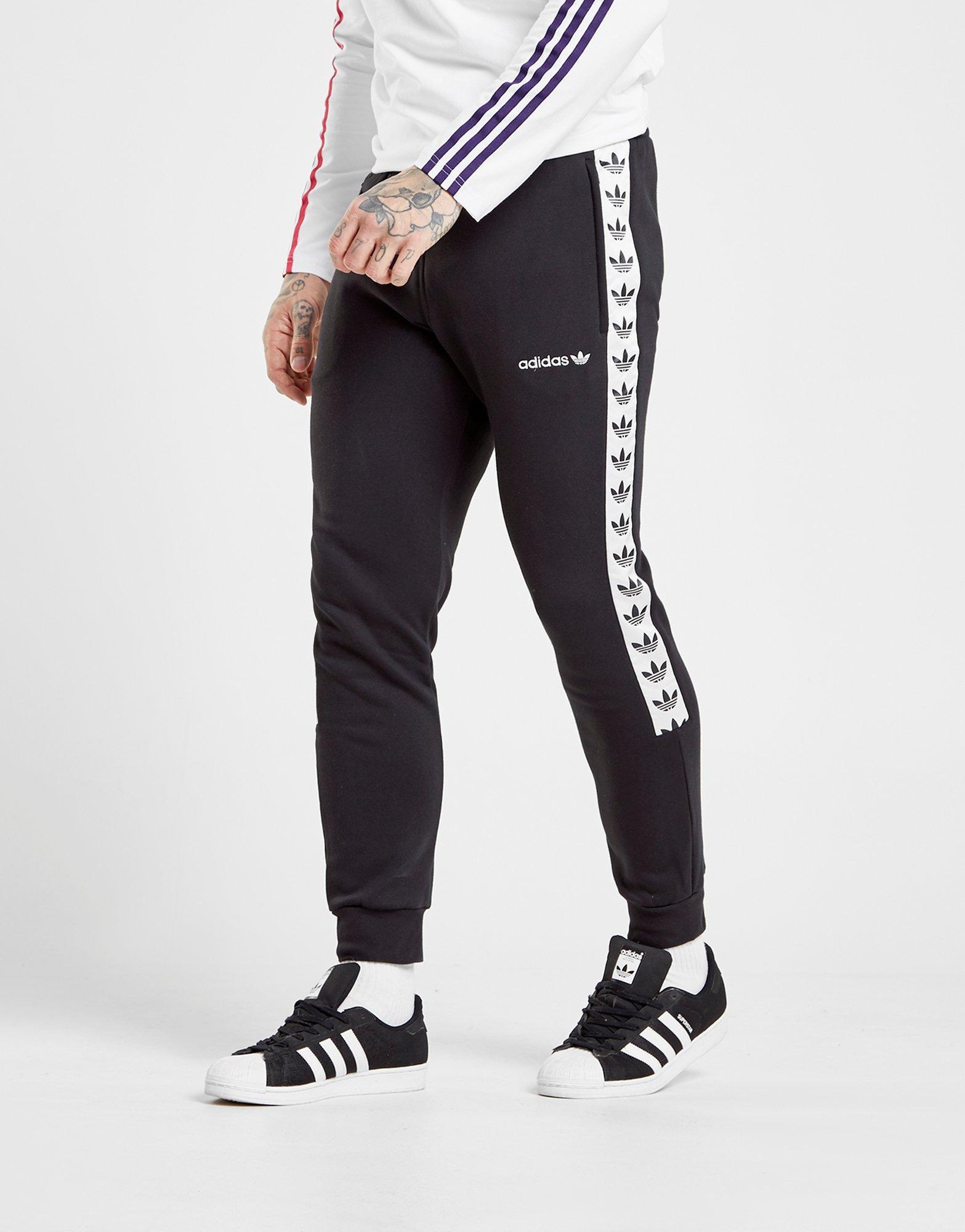 in Tape Adidas Men Fleece Lyst Pants for Track Black Originals pC6w6qn1