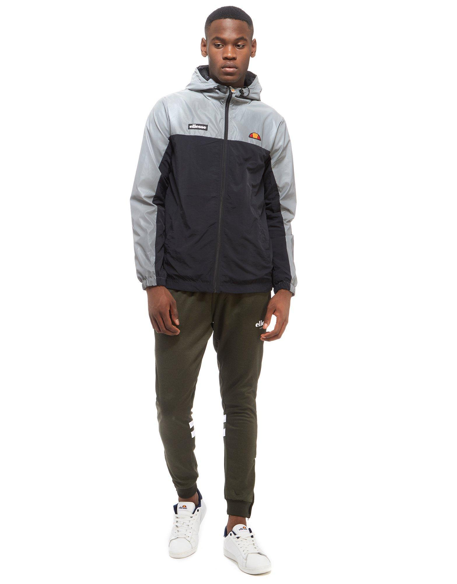 Ellesse Ervero Reflective Hooded Jacket In Black For Men