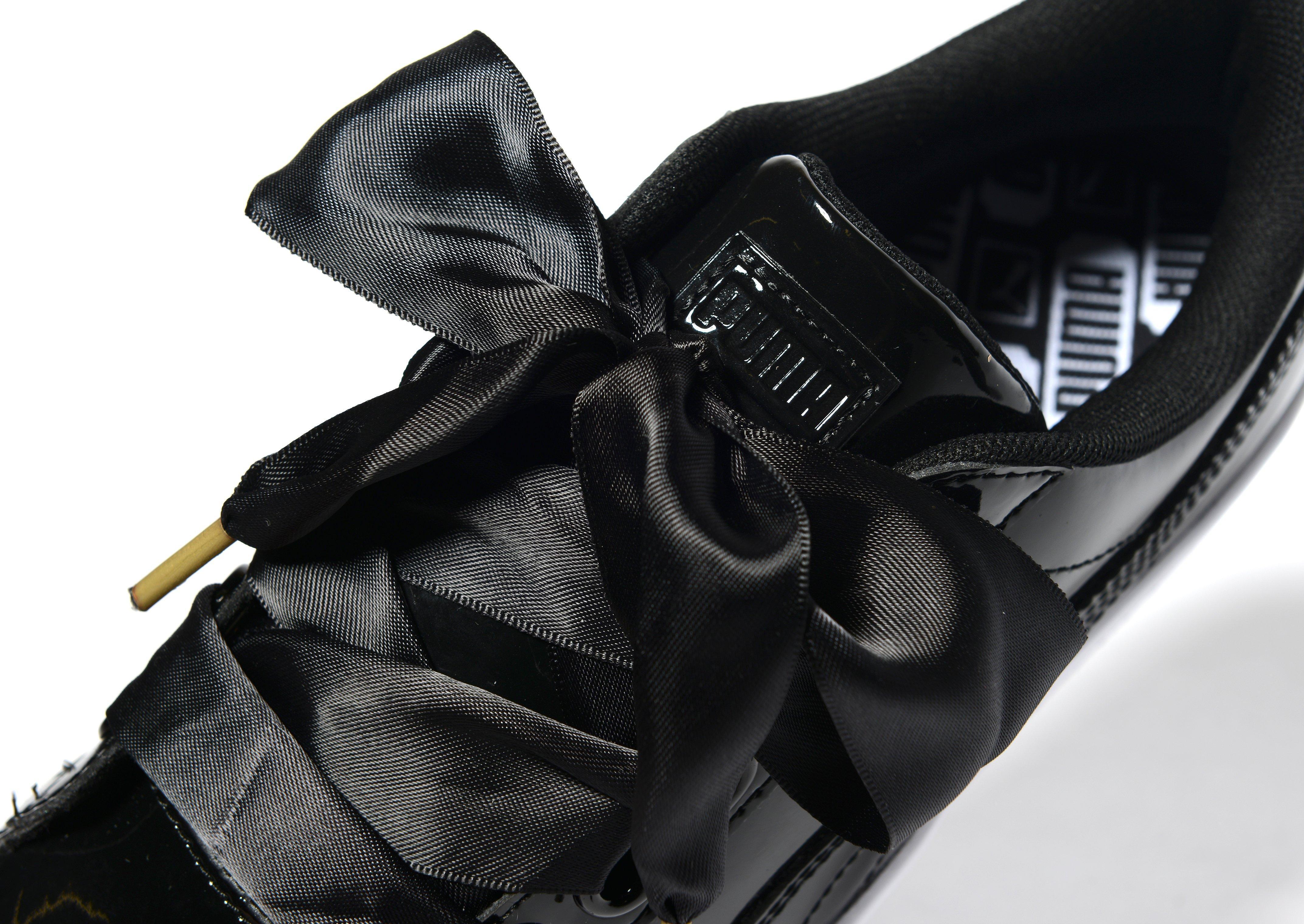 Puma Basket Heart In Black Lyst
