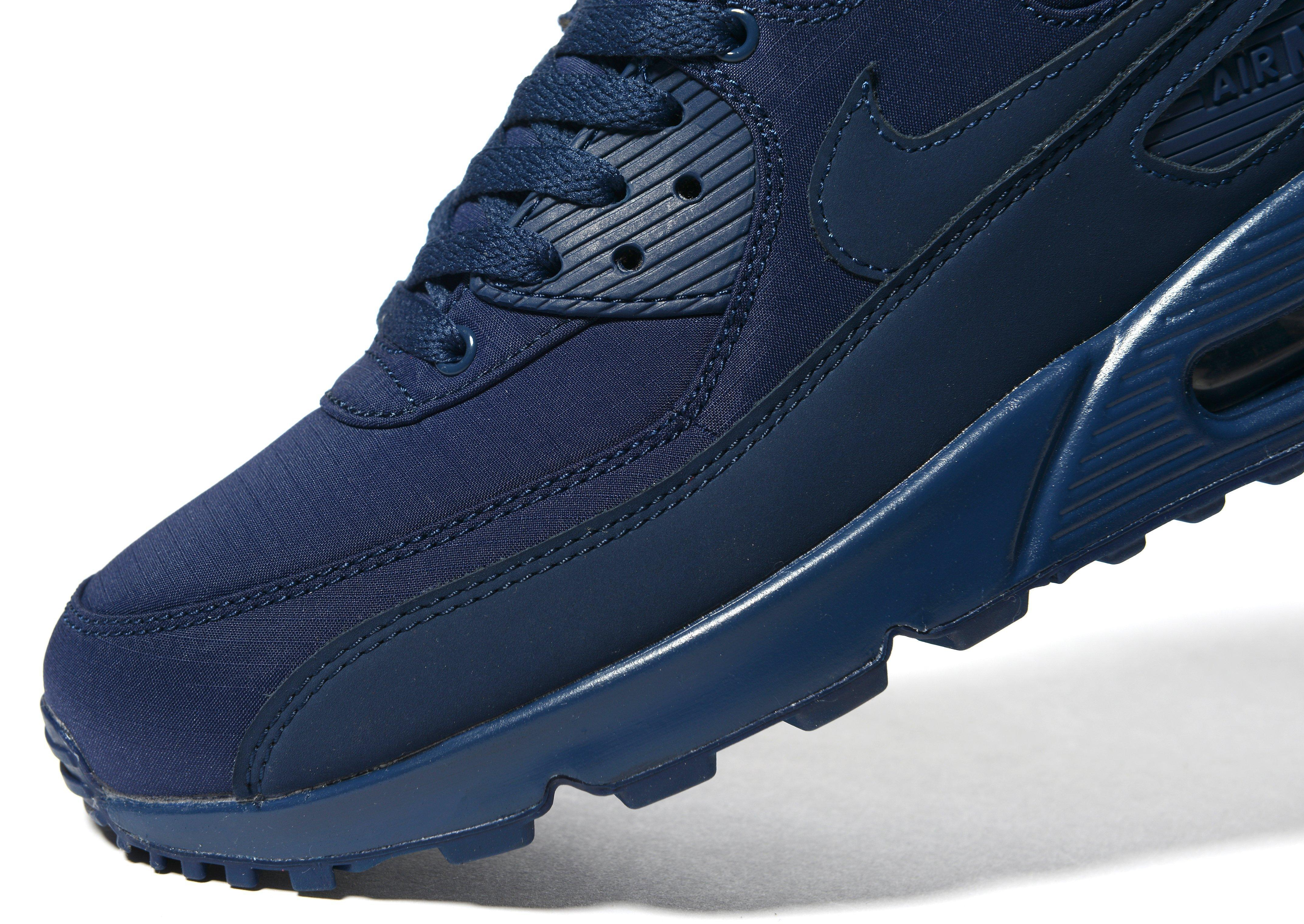 Nike Leather Air Max 90 Ripstop in Navy (Blue) for Men - Lyst