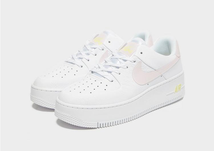 Nike Leather Air Force 1 Sage Low in White/Pink/Yellow (White) - Lyst