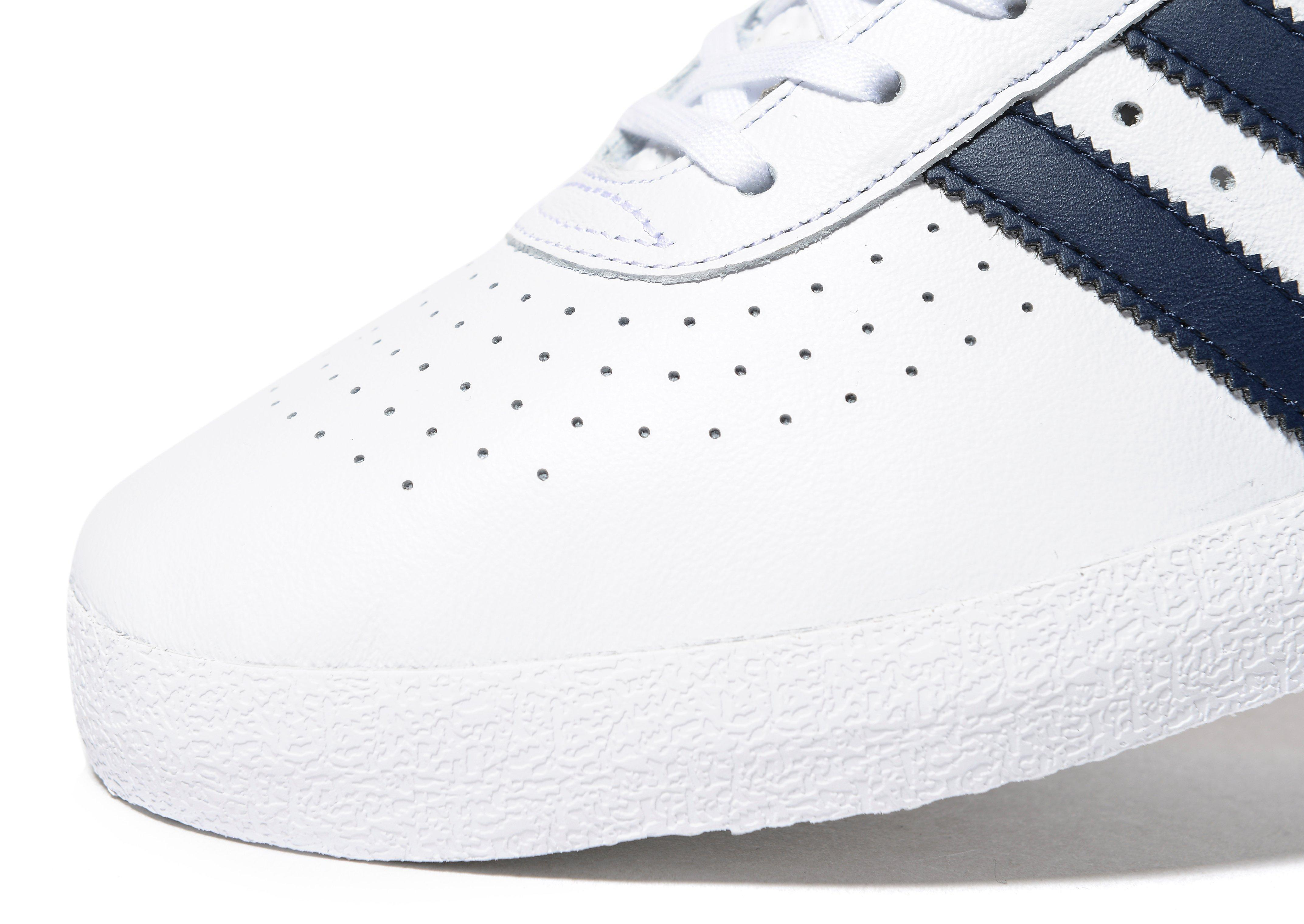 adidas 350 Leather Men's in White/Navy (Blue) for Men