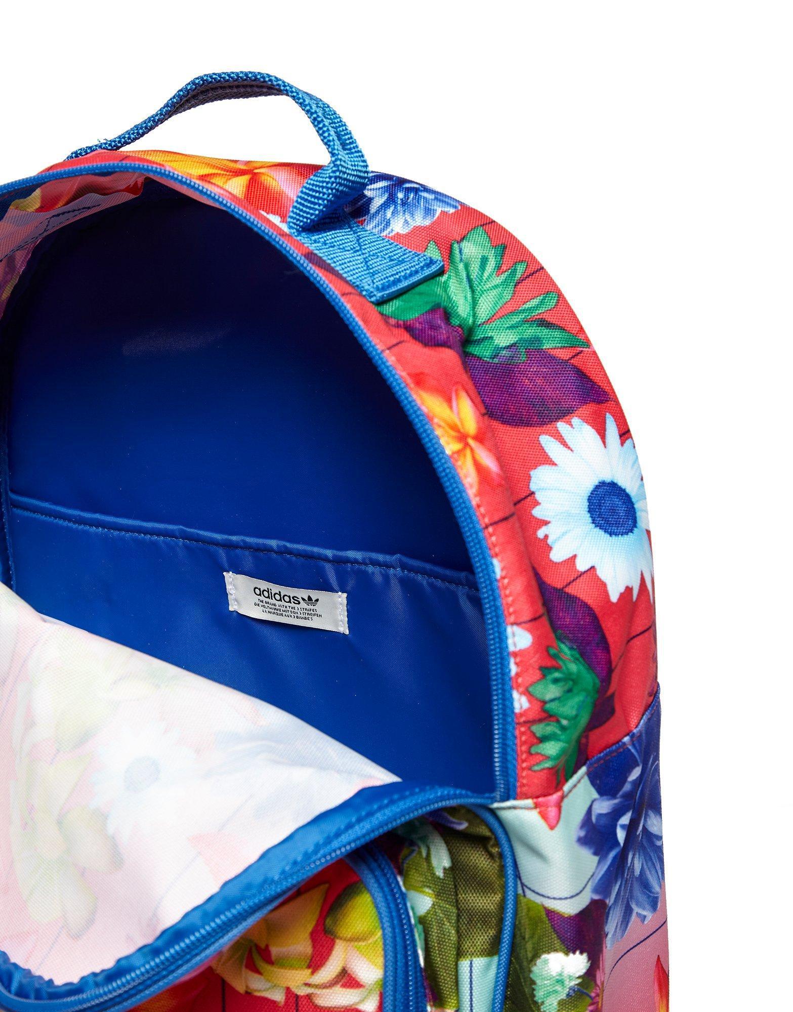 Lyst - adidas Originals Classic Flower Backpack 3bfa4f467253d