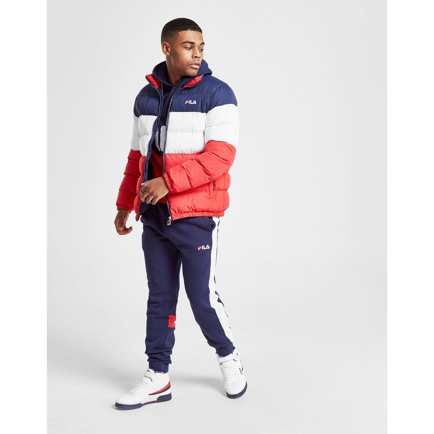 Fila Synthetic Barnaby Jacket in Navy/White/Red (Blue) for ...