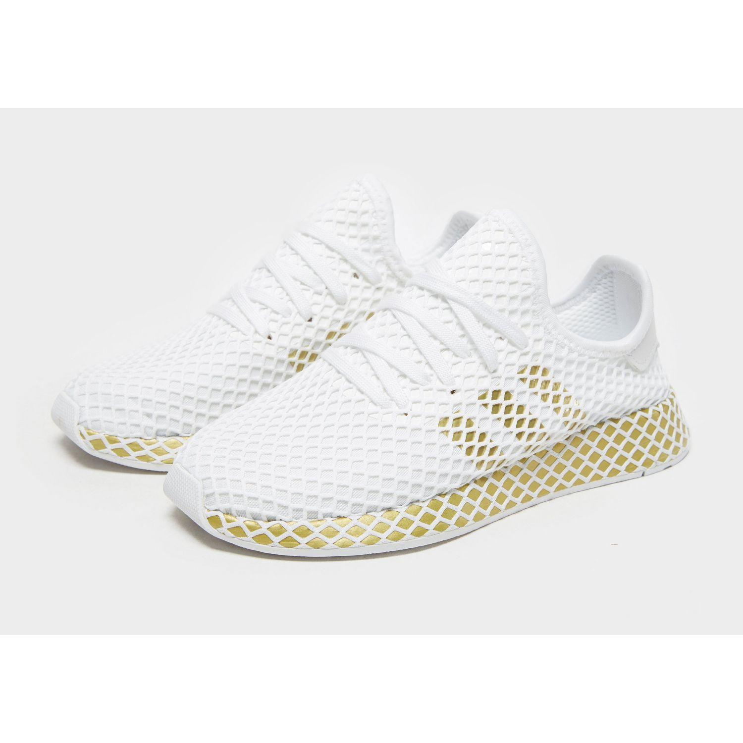 adidas deerupt white and gold