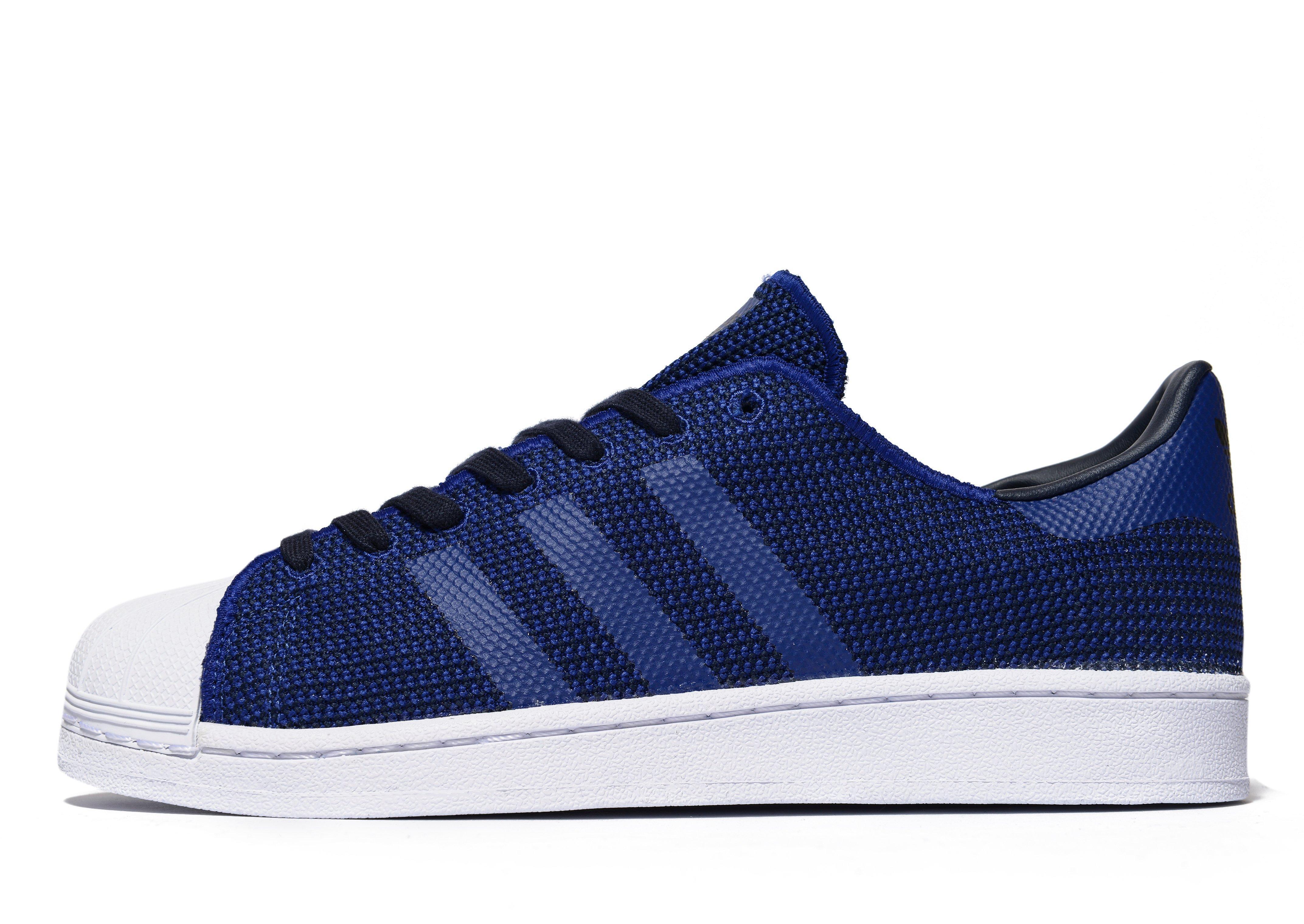 adidas Originals Rubber Superstar Knit in Blue for Men - Lyst