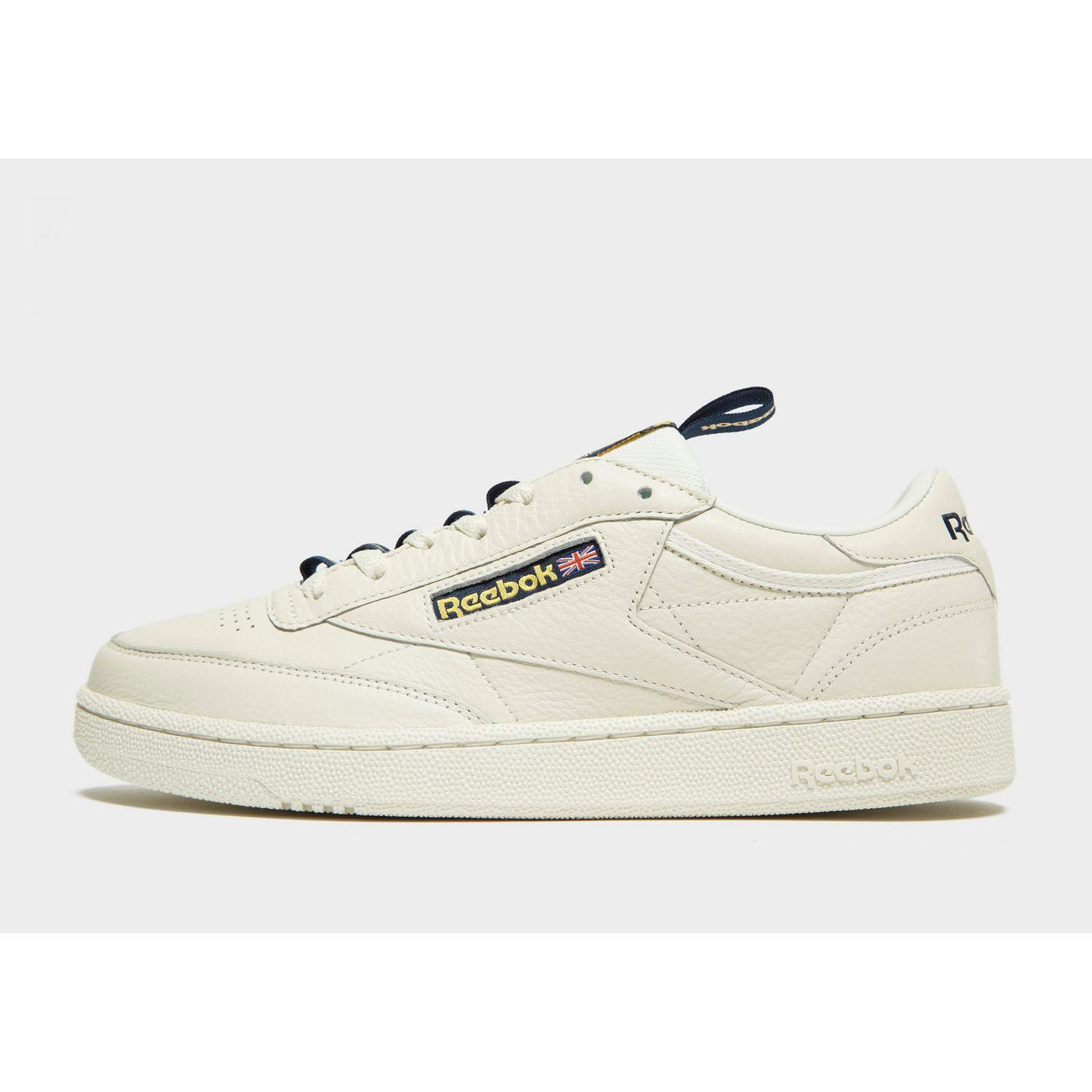 Reebok Leather Club C Tape in White for