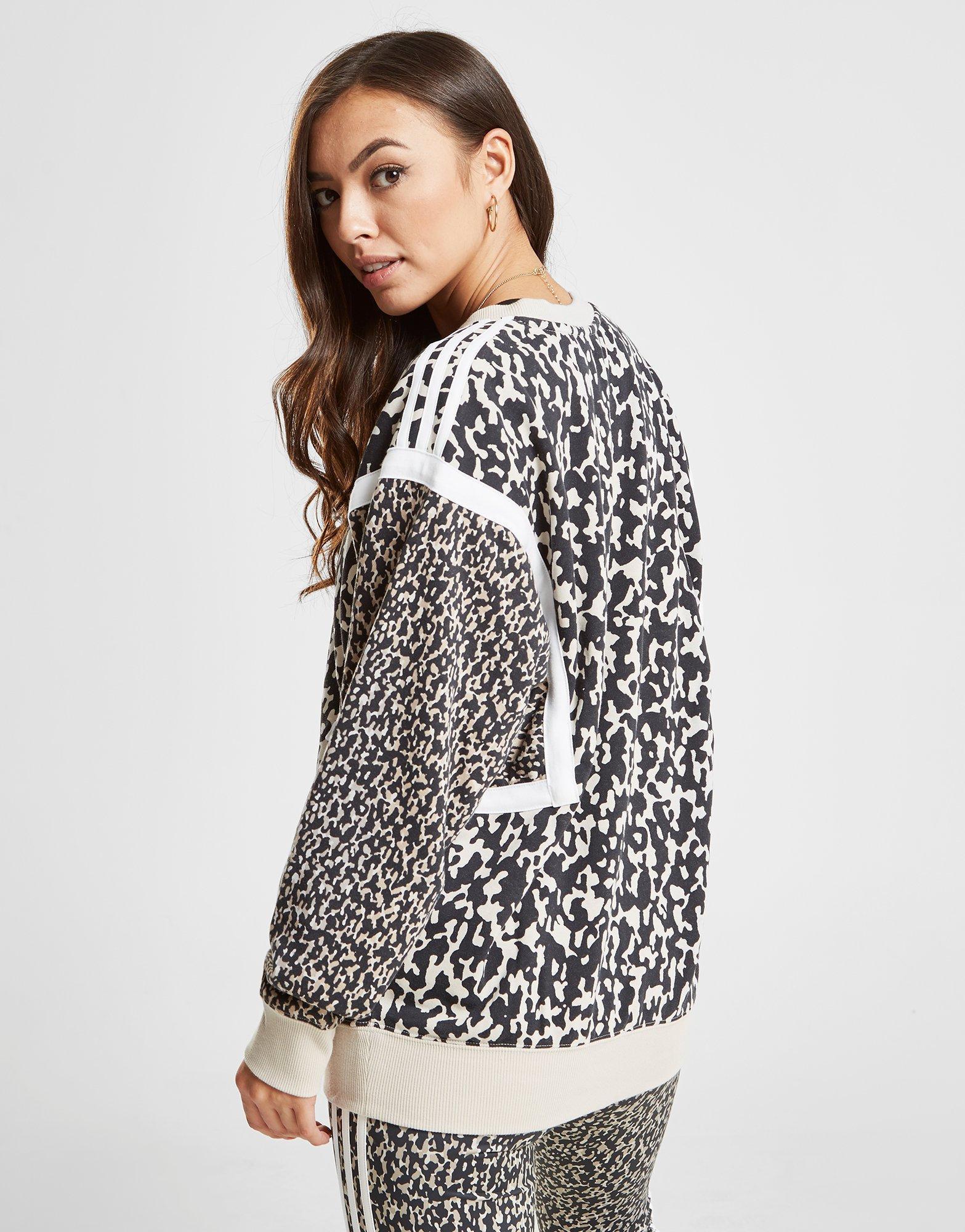 f1c9b5520ee8b Lyst - Adidas Originals 3-stripes Crew Sweatshirt in Black