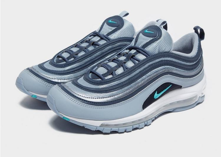 Nike Leather Air Max 97 Essential in Grey/Blue/Teal (Blue) for Men ...
