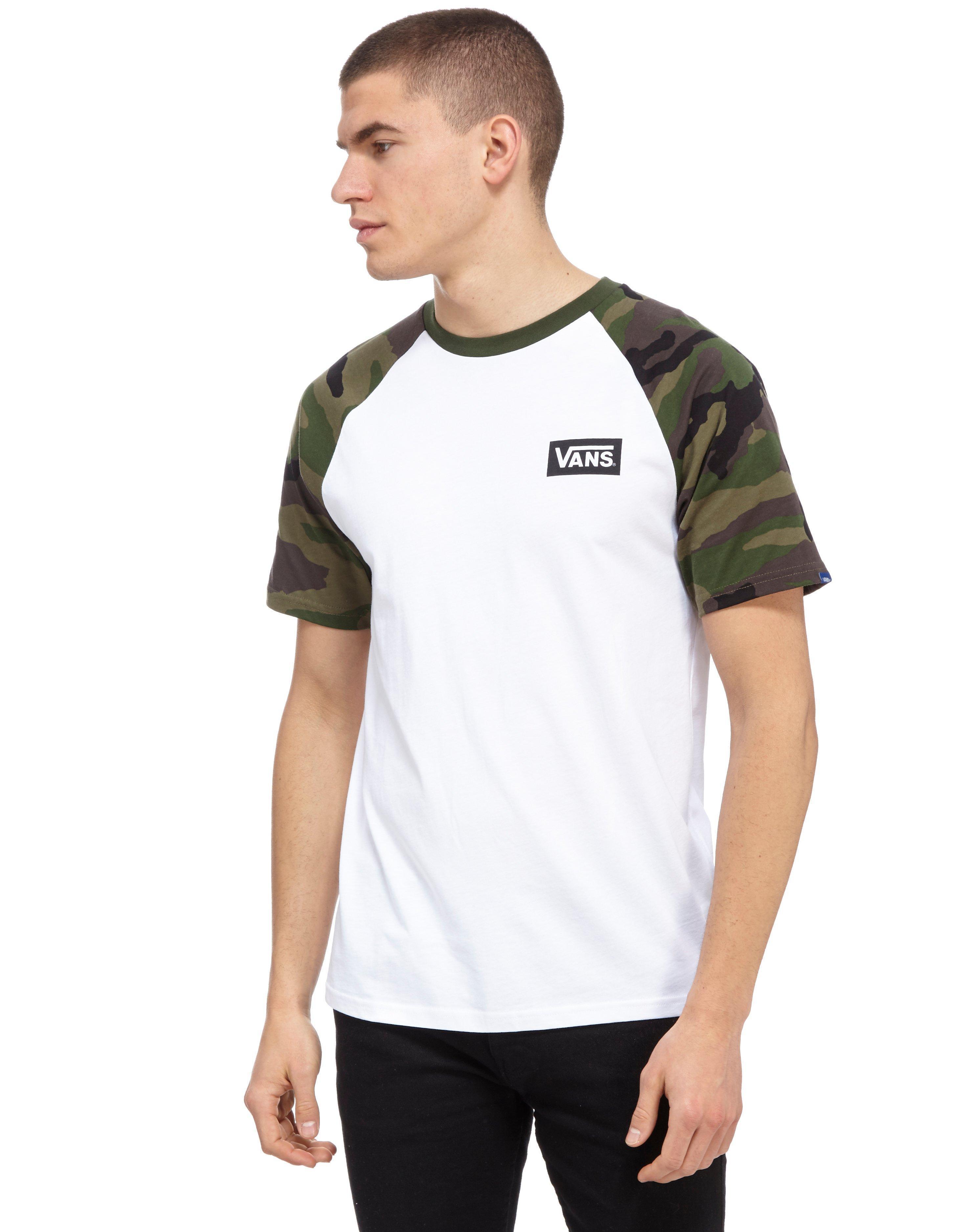 2b1655063f Lyst - Vans Classic Raglan T-shirt in White for Men