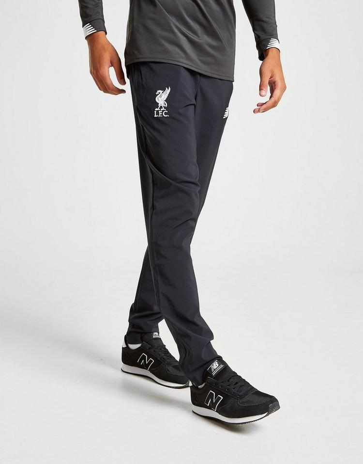 New Balance Synthetic Liverpool Fc Manager S Track Pants In Black White Black For Men Lyst