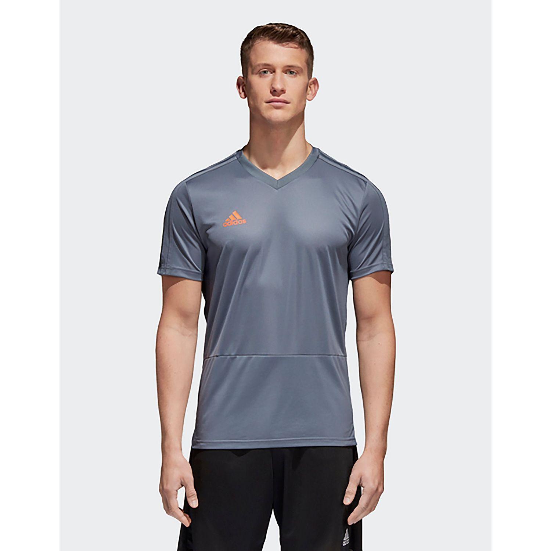 adidas Originals Condivo 18 Training Jersey in Grey / Orange (Grey ...