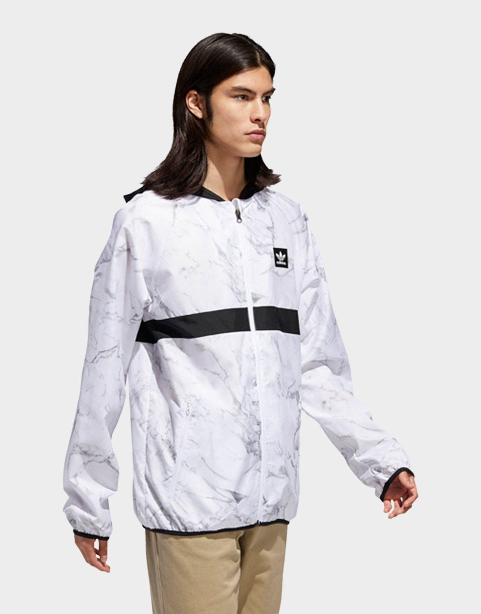 7e82bf1134 Adidas White Marble Bb Packable Wind Jacket for men