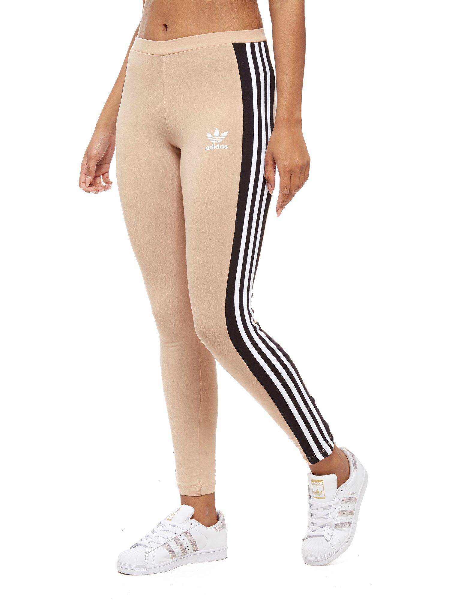0755a6573 Lyst - adidas Originals 3-stripes Panel Leggings in Black