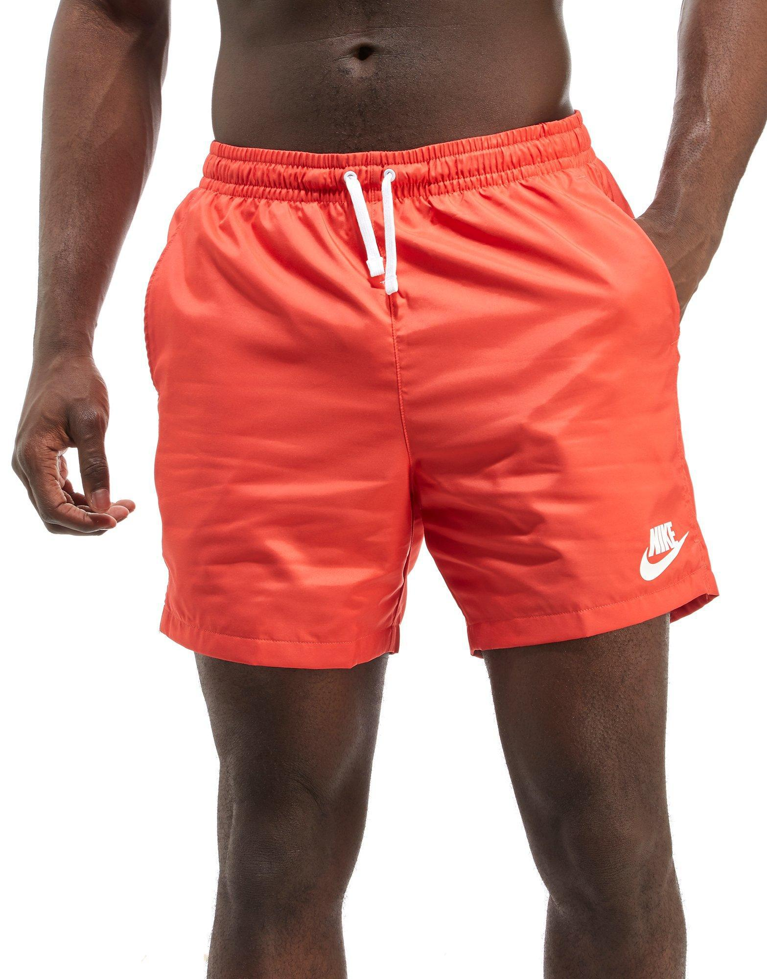 nike woven shorts red