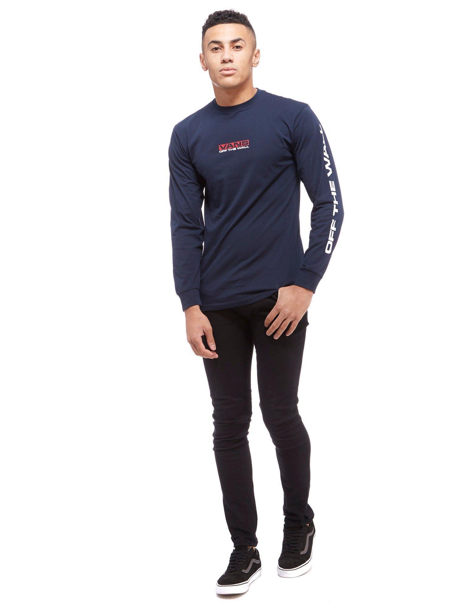 ca2e7802b2 Vans Blue Side Waze Long Sleeve T-shirt for men