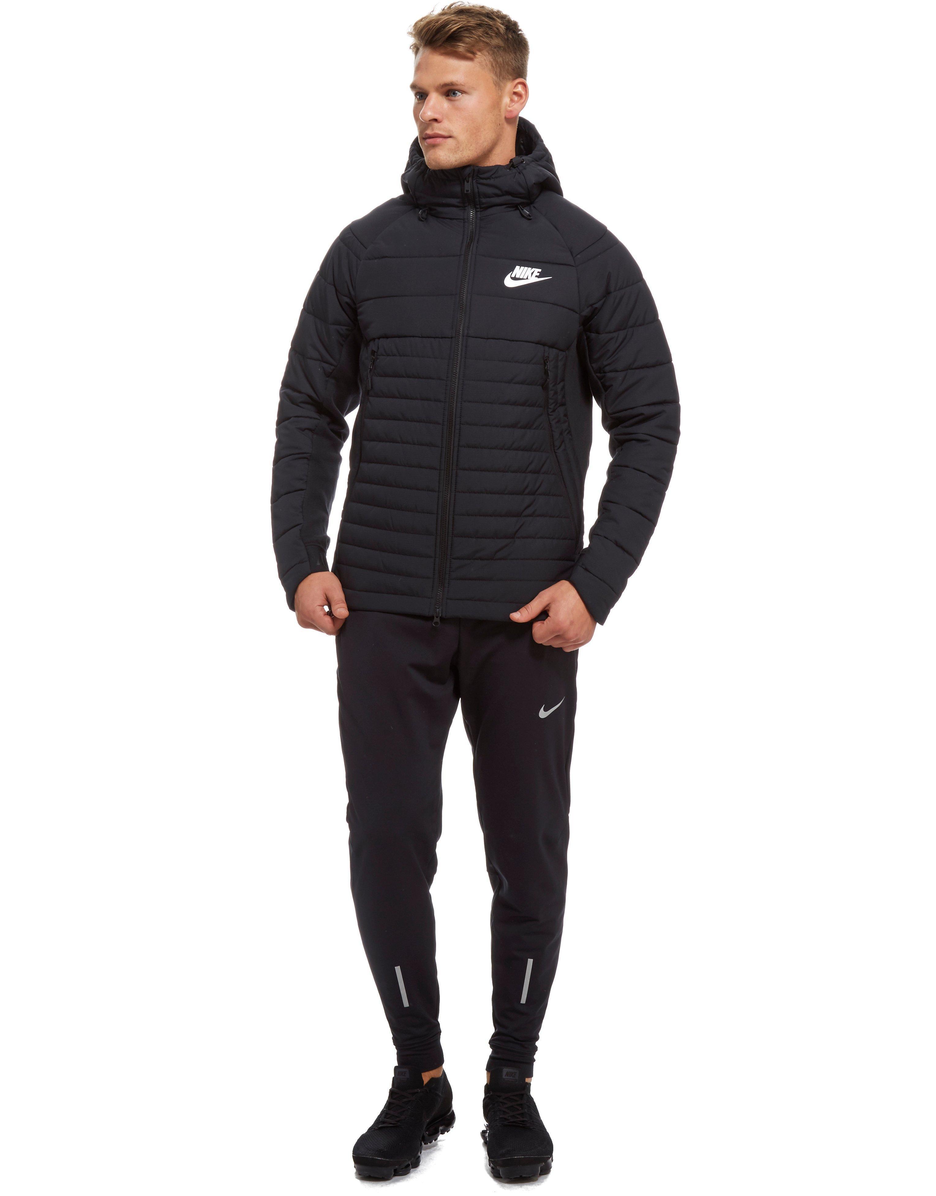 Men's Black Sportswear Down Fill Hooded Parka